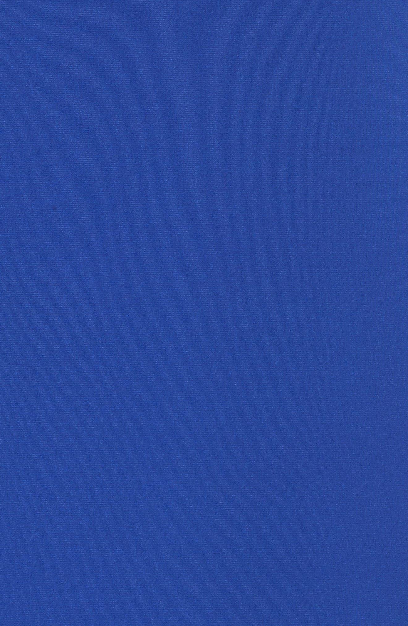 Cold Shoulder Shift Dress,                             Alternate thumbnail 5, color,                             Blue