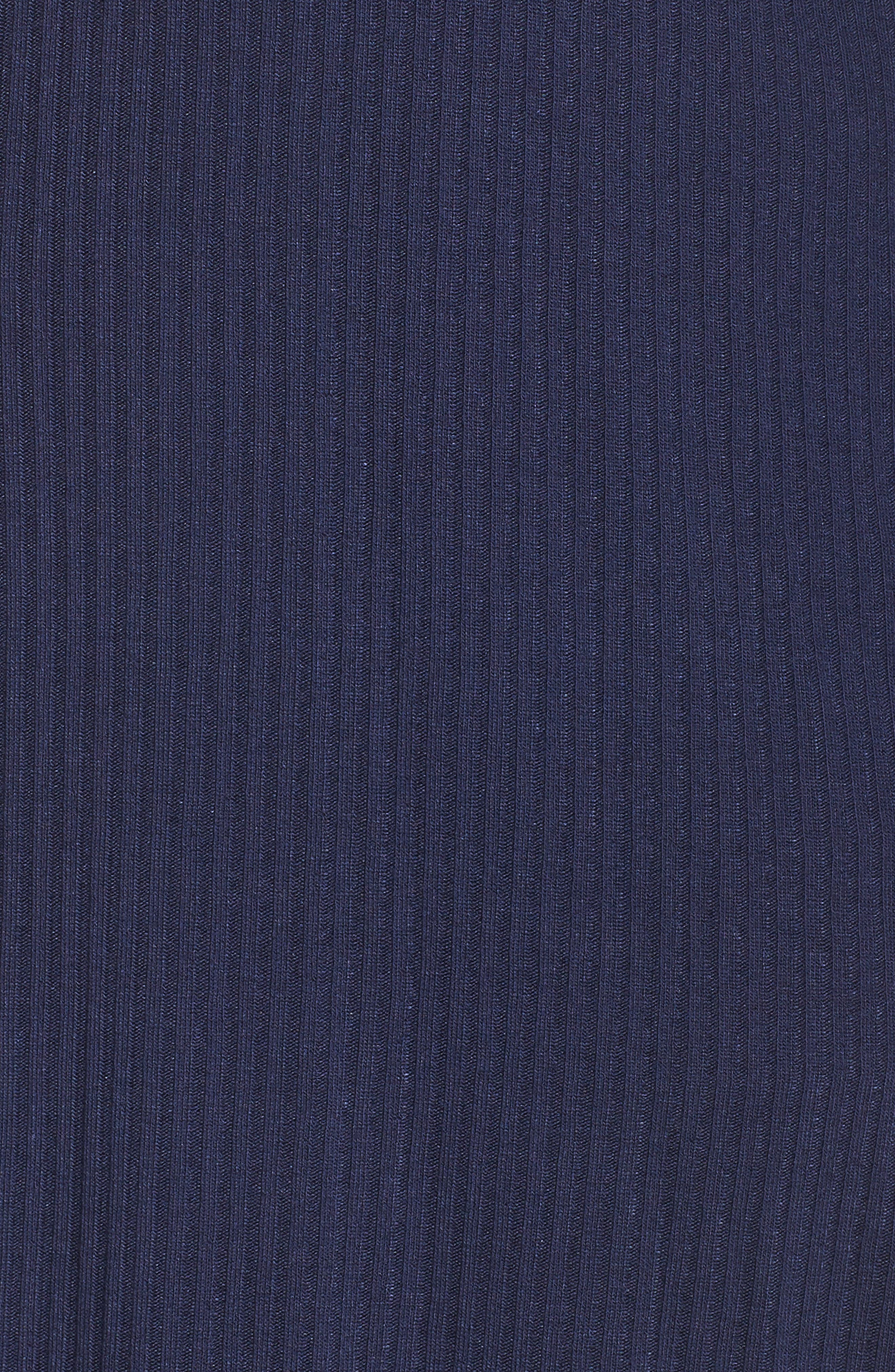 Ribbed Open-Front Cardigan,                             Alternate thumbnail 5, color,                             Navy Peacoat
