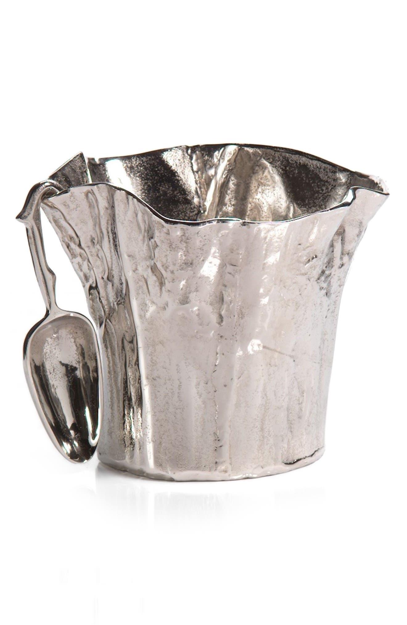 Cado Ice Bucket & Ice Scoop,                         Main,                         color, Silver