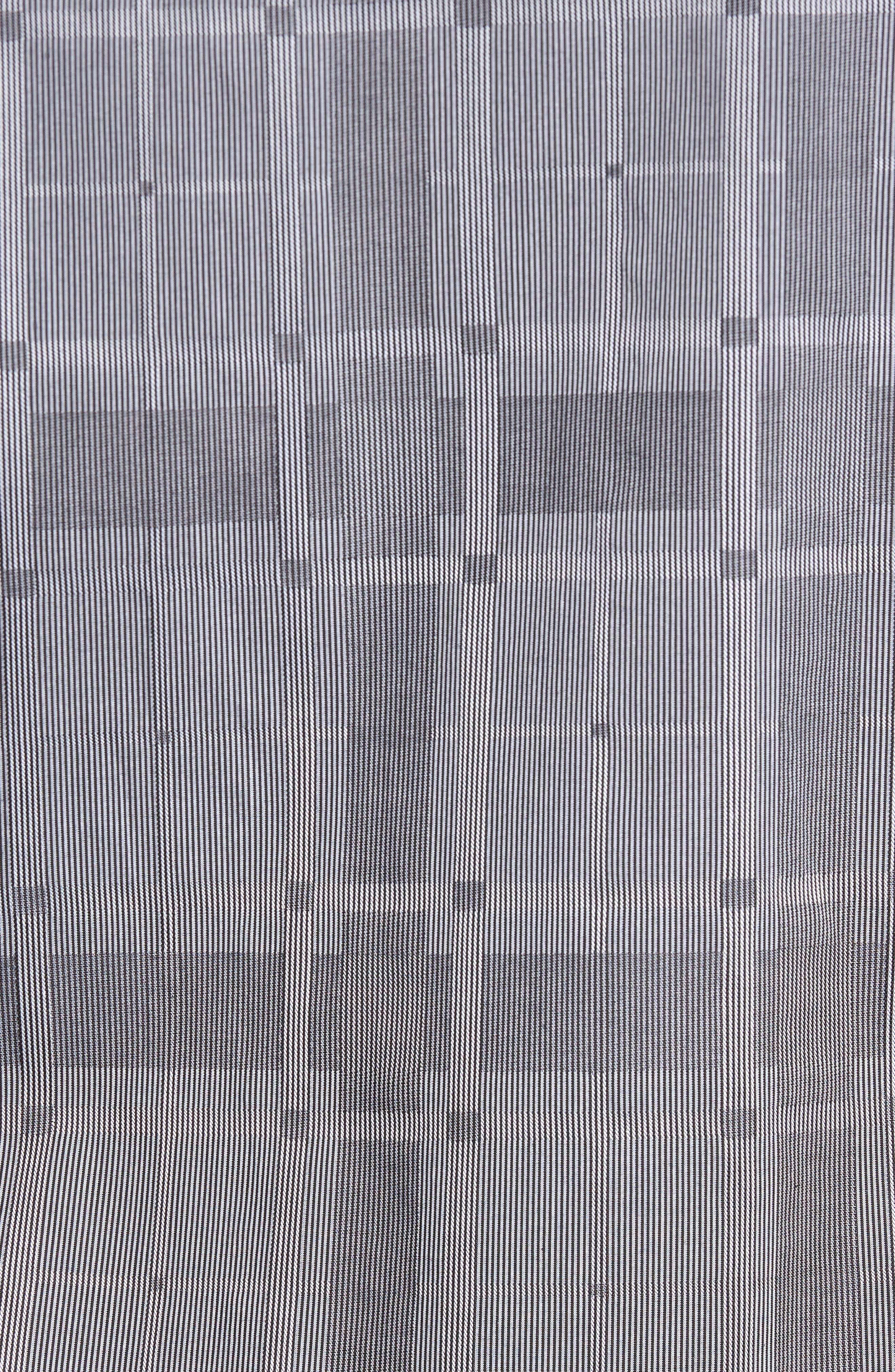 Slim Fit Microstripe Plaid Sport Shirt,                             Alternate thumbnail 5, color,                             Graphite