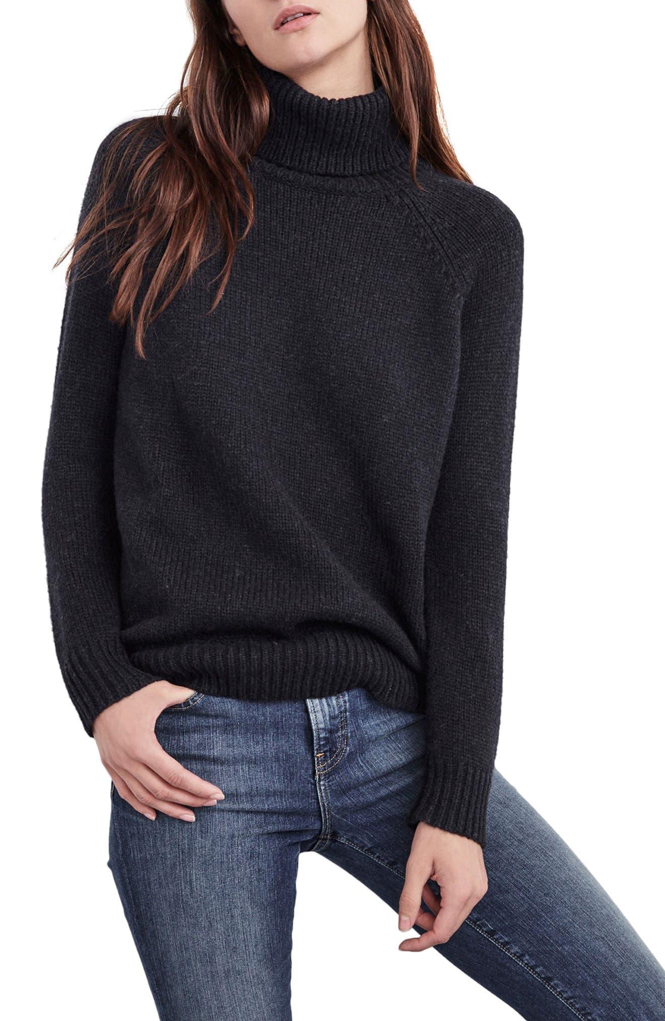 Velvet by Graham & Spencer Textured Turtleneck Sweater