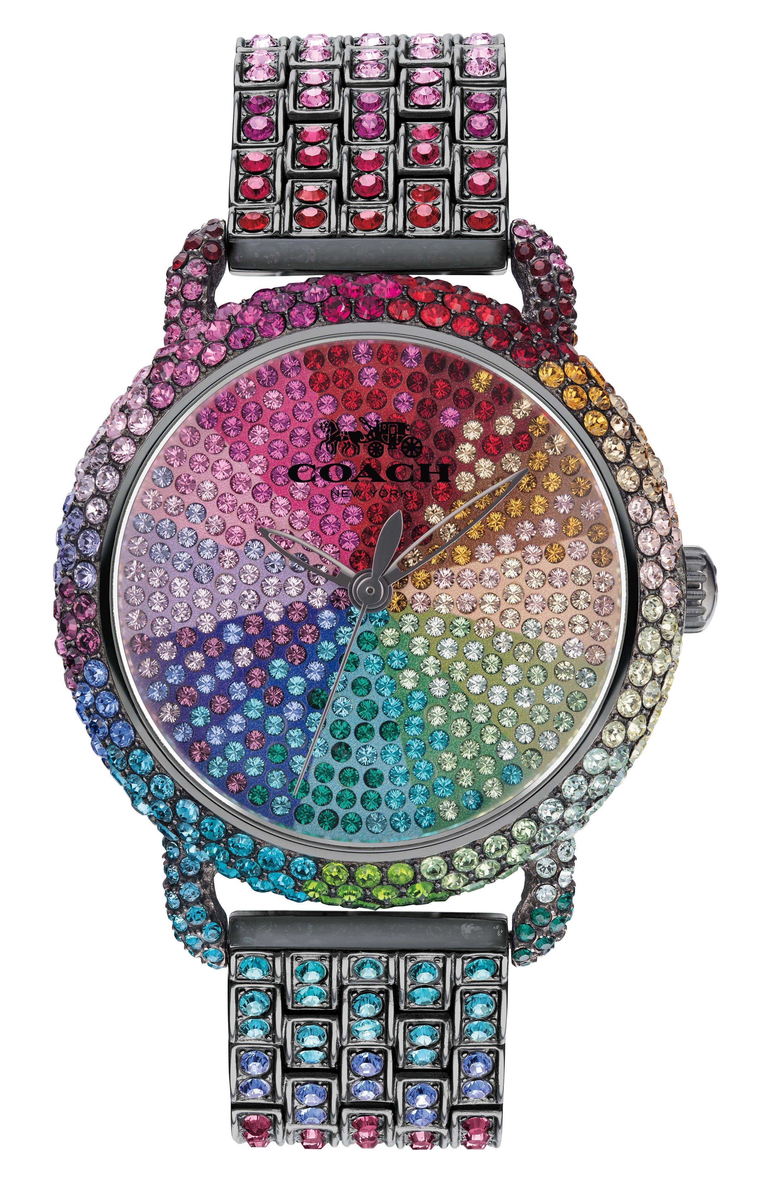 'Delancey' Crystal Bracelet Watch, 36mm,                         Main,                         color, Metallic/ Multi/ Grey