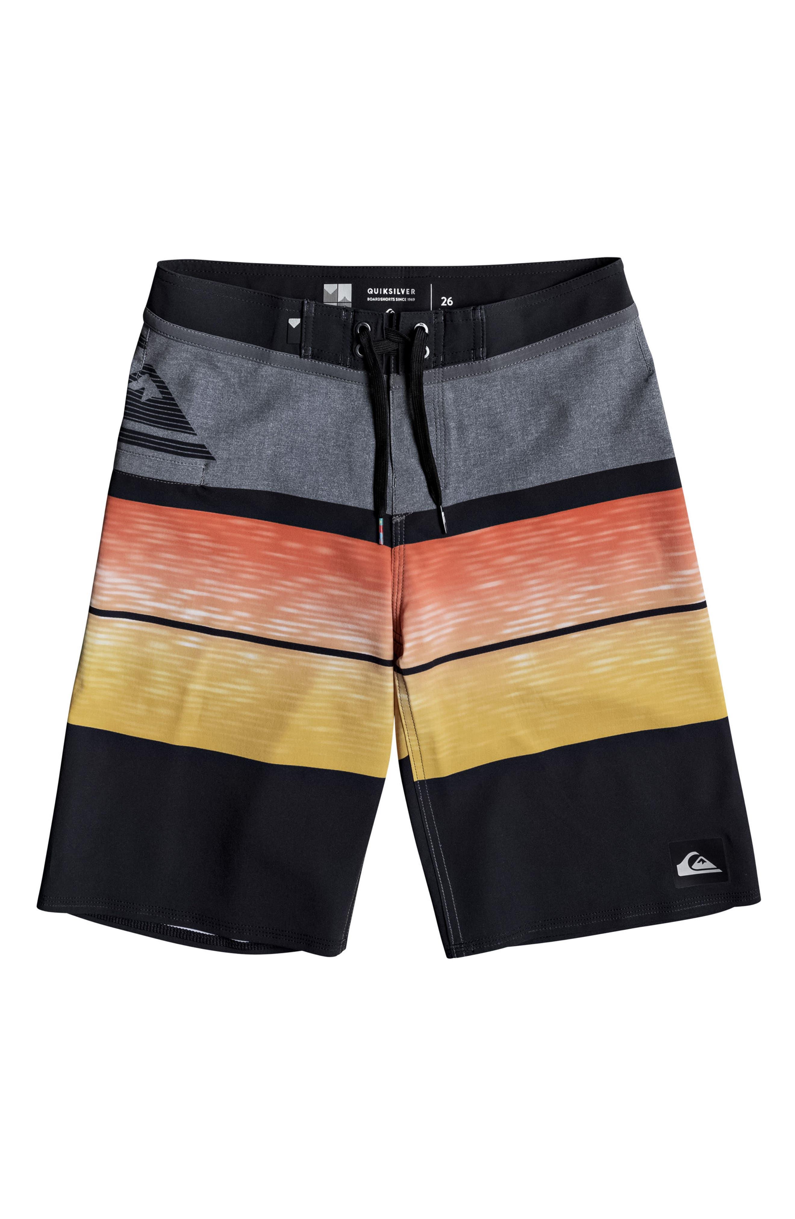 Slab Logo Vee Board Shorts,                         Main,                         color, Artisan Gold