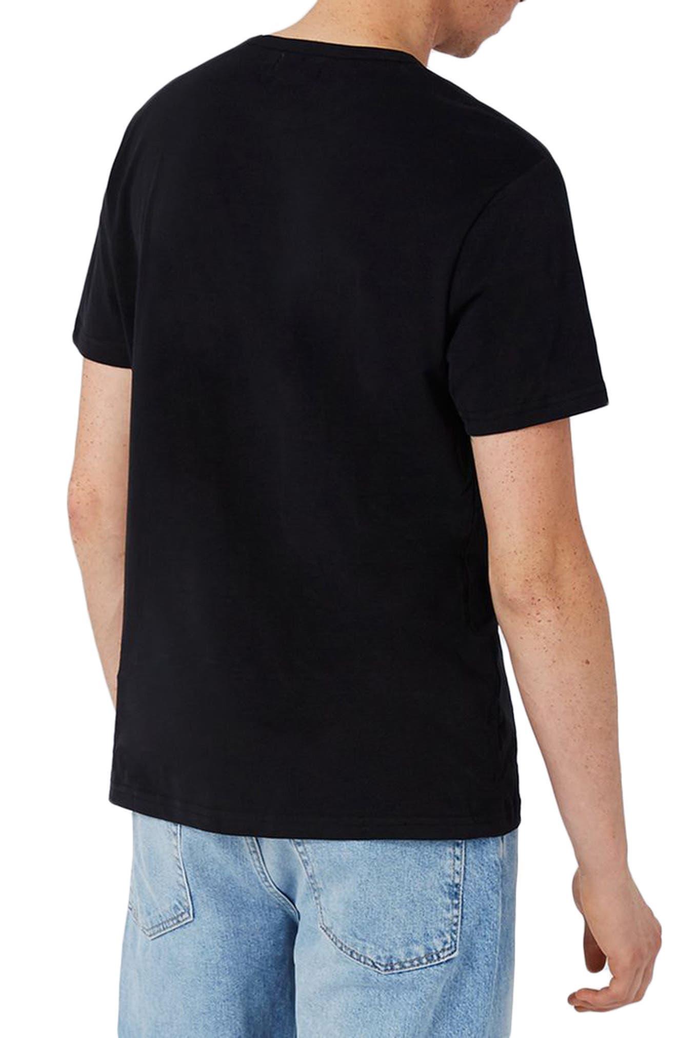 Not Me Embroidery T-Shirt,                             Alternate thumbnail 2, color,                             Black