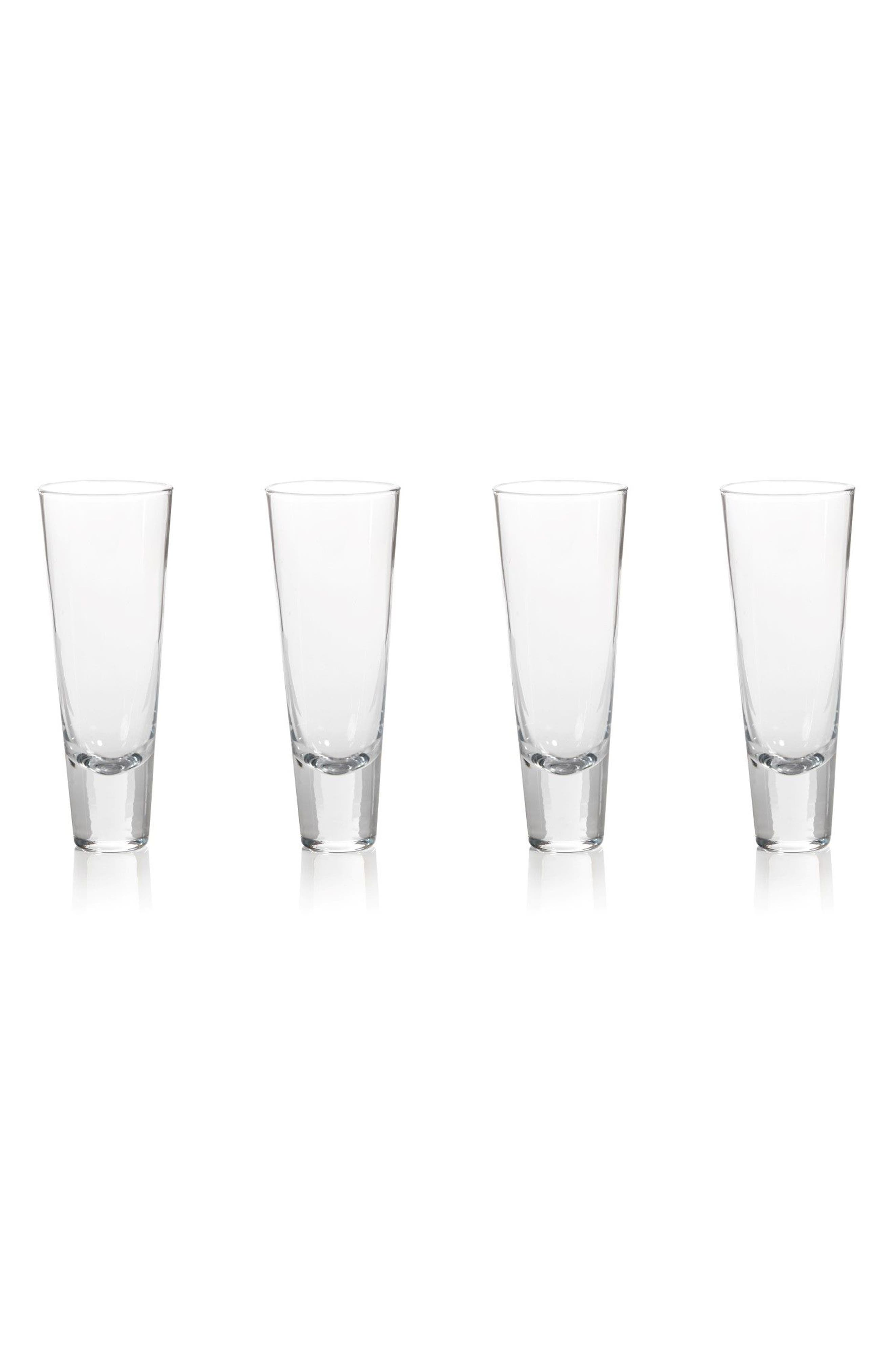 Anatole Set of 4 Tapered Glasses,                         Main,                         color, Clear