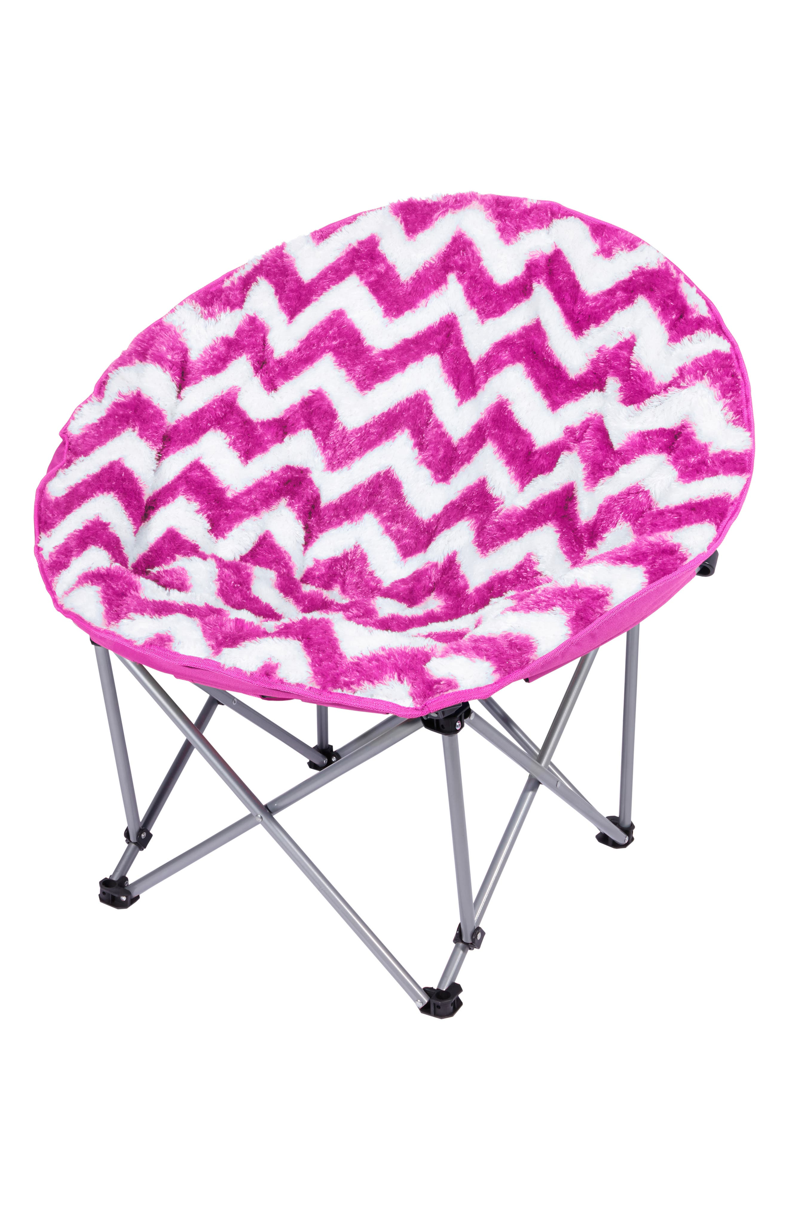 Chevron Moon Chair,                         Main,                         color, Pink