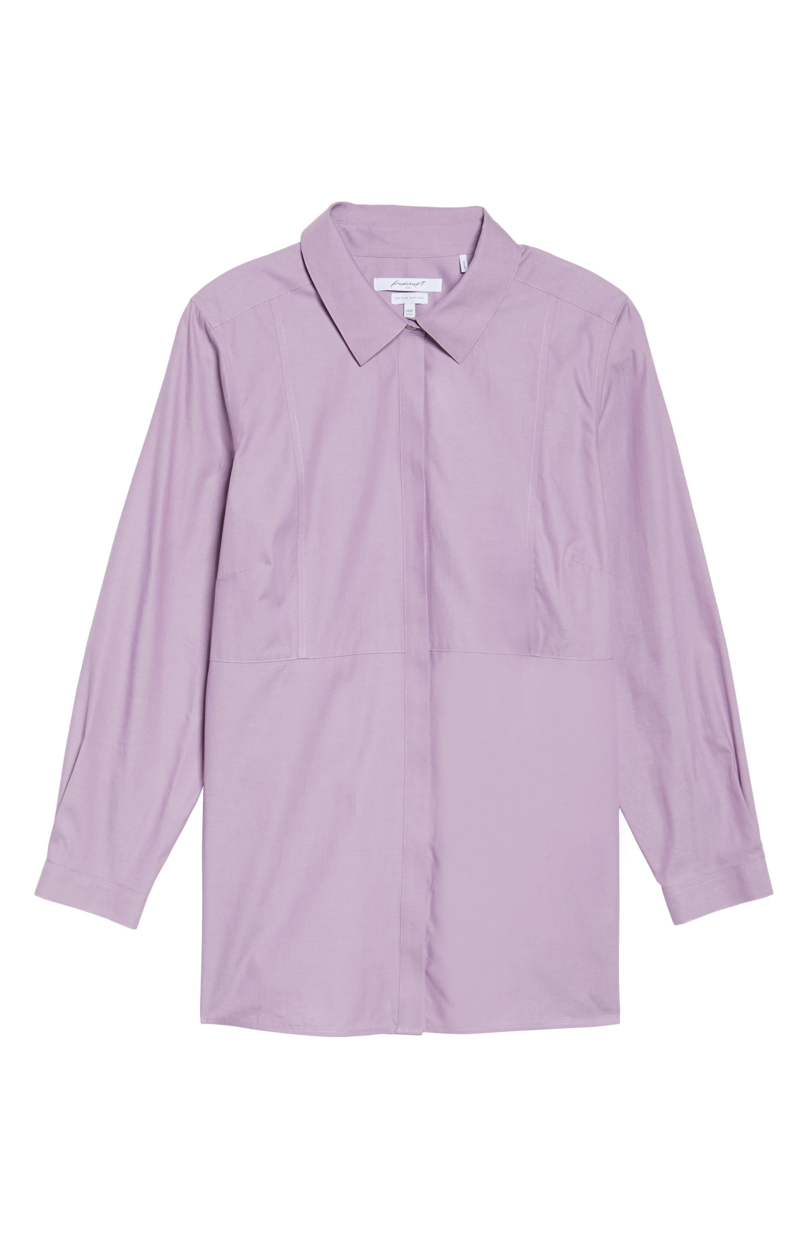 Pinpoint Oxford Cloth Shirt,                             Alternate thumbnail 6, color,                             Mauve