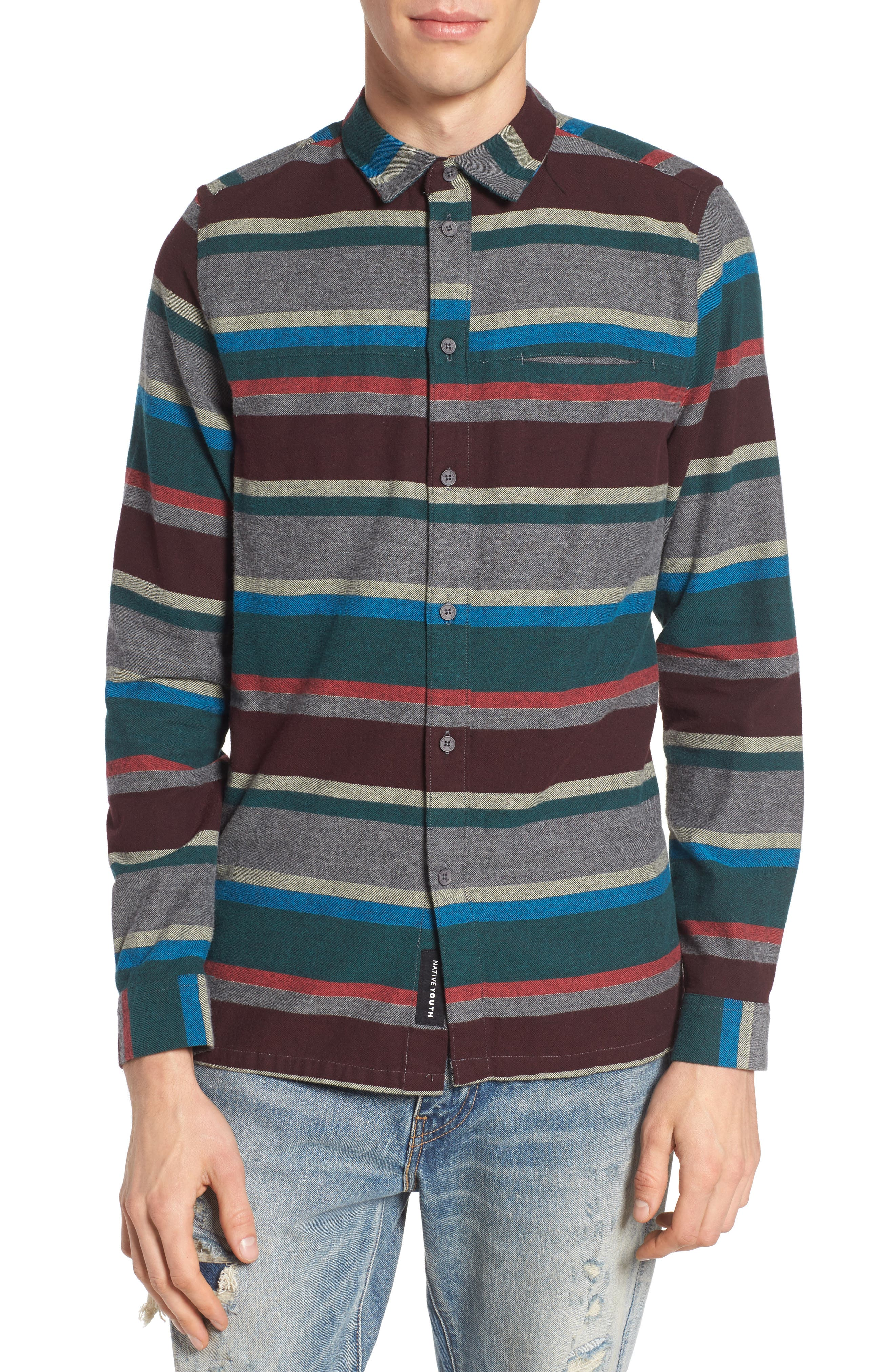 Alternate Image 1 Selected - Native Youth Arcot Woven Shirt