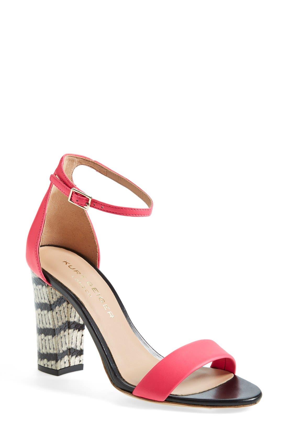 Alternate Image 1 Selected - Kurt Geiger London 'Isabella' Ankle Strap Sandal (Women)