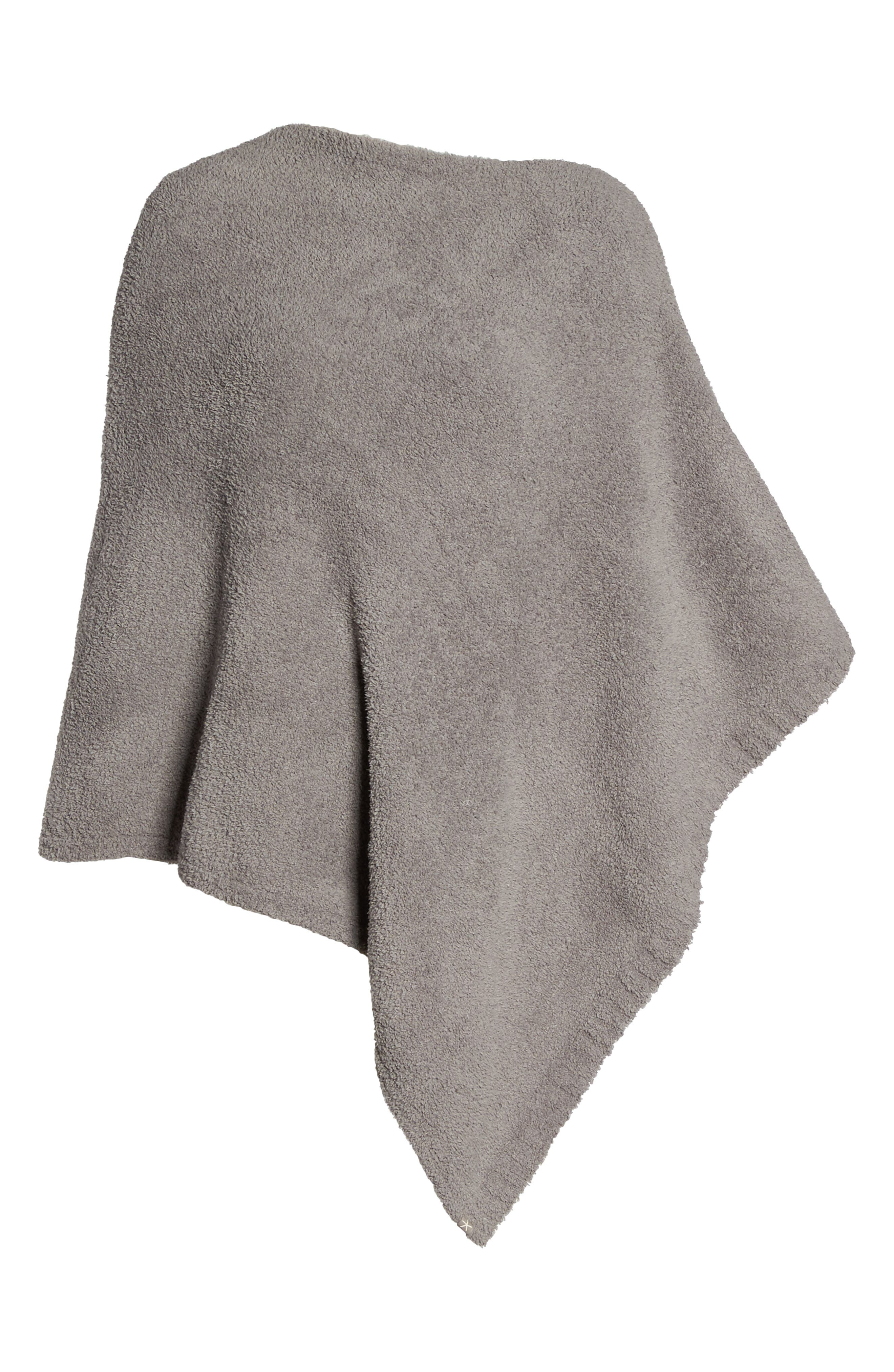 Boatneck CozyChic<sup>®</sup> Poncho,                         Main,                         color, Warm Grey