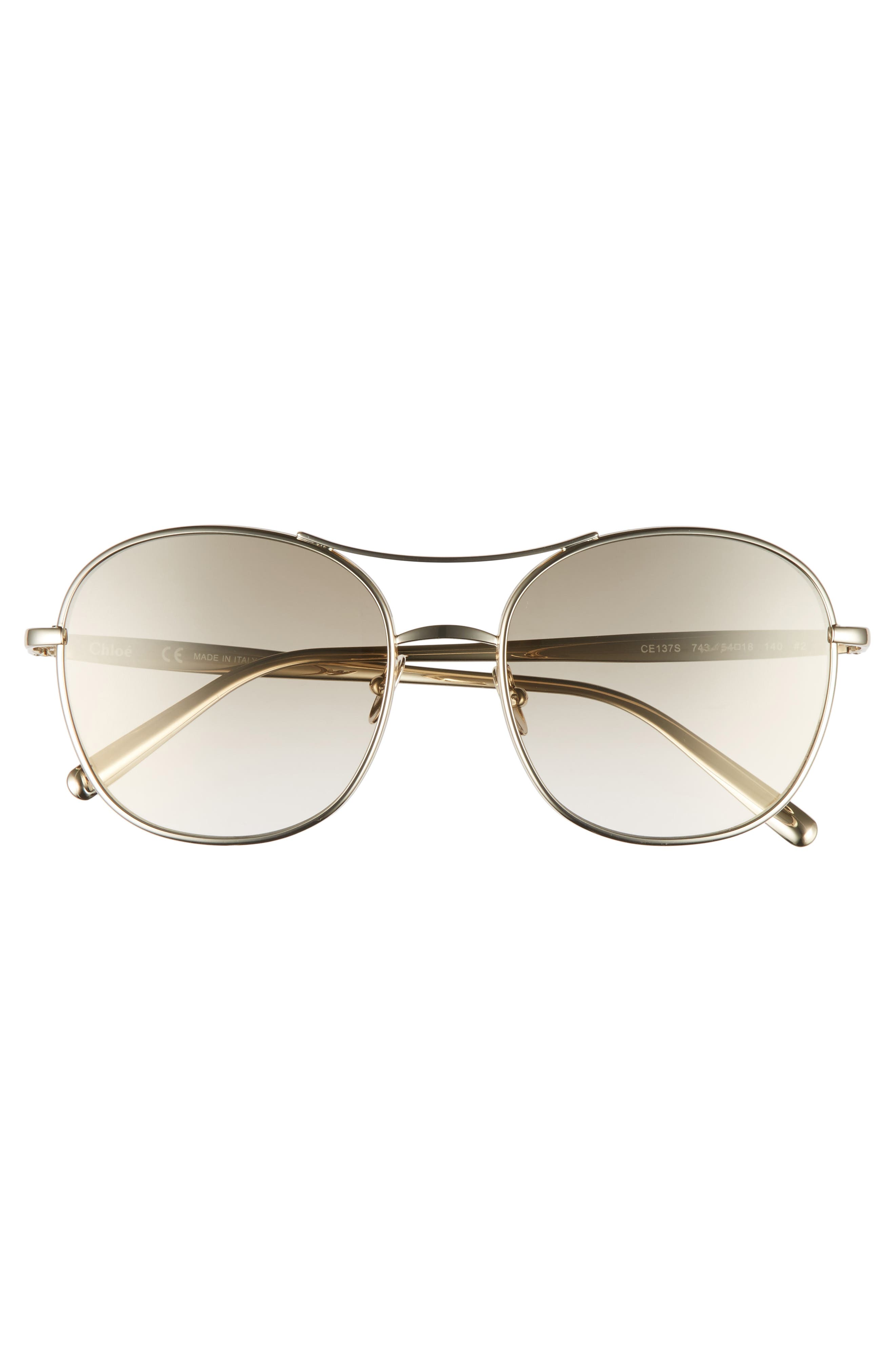 Alternate Image 4  - Chloé 54mm Aviator Sunglasses