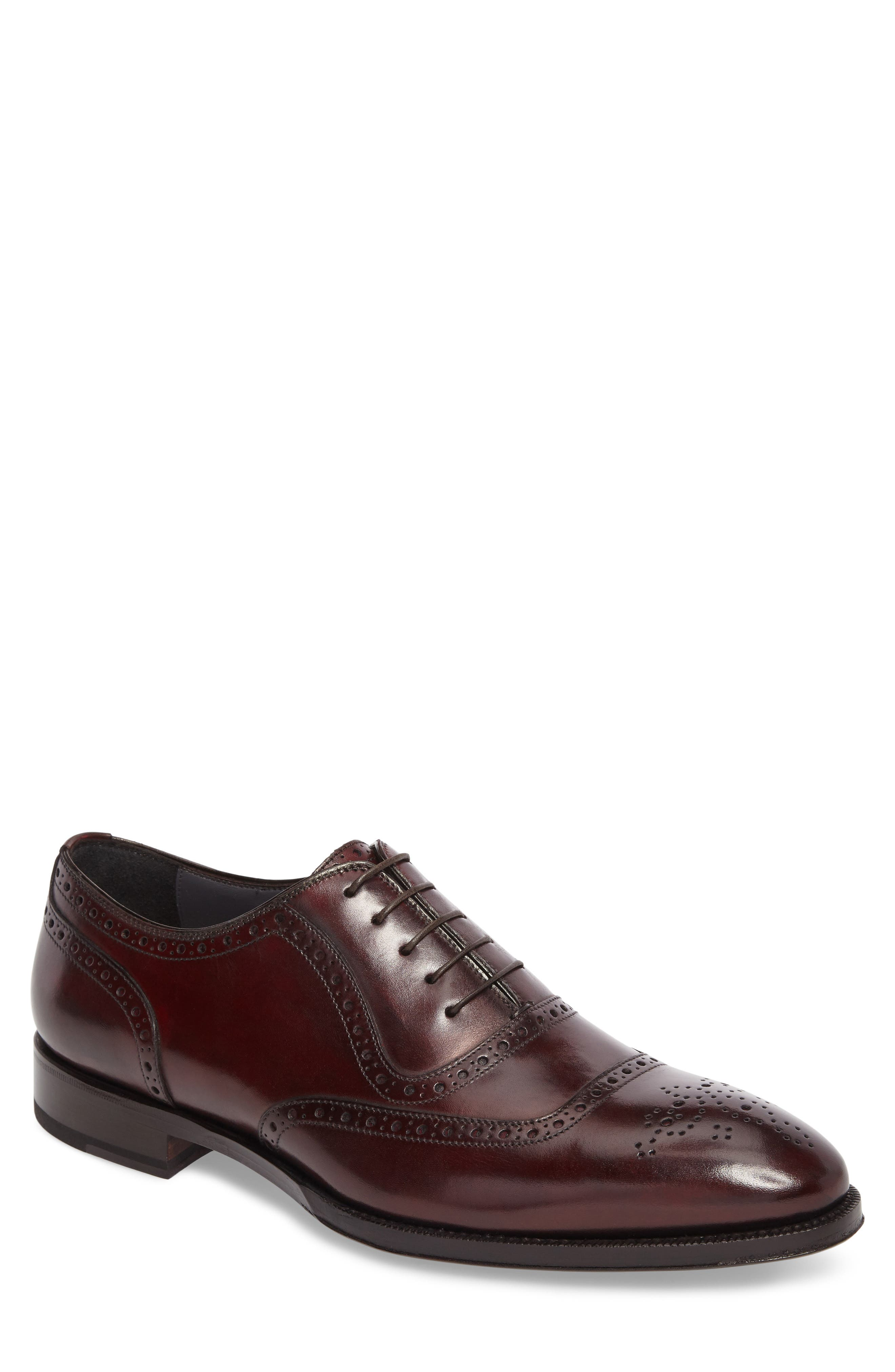 Medallion Toe Oxford,                             Main thumbnail 1, color,                             Anima Leather