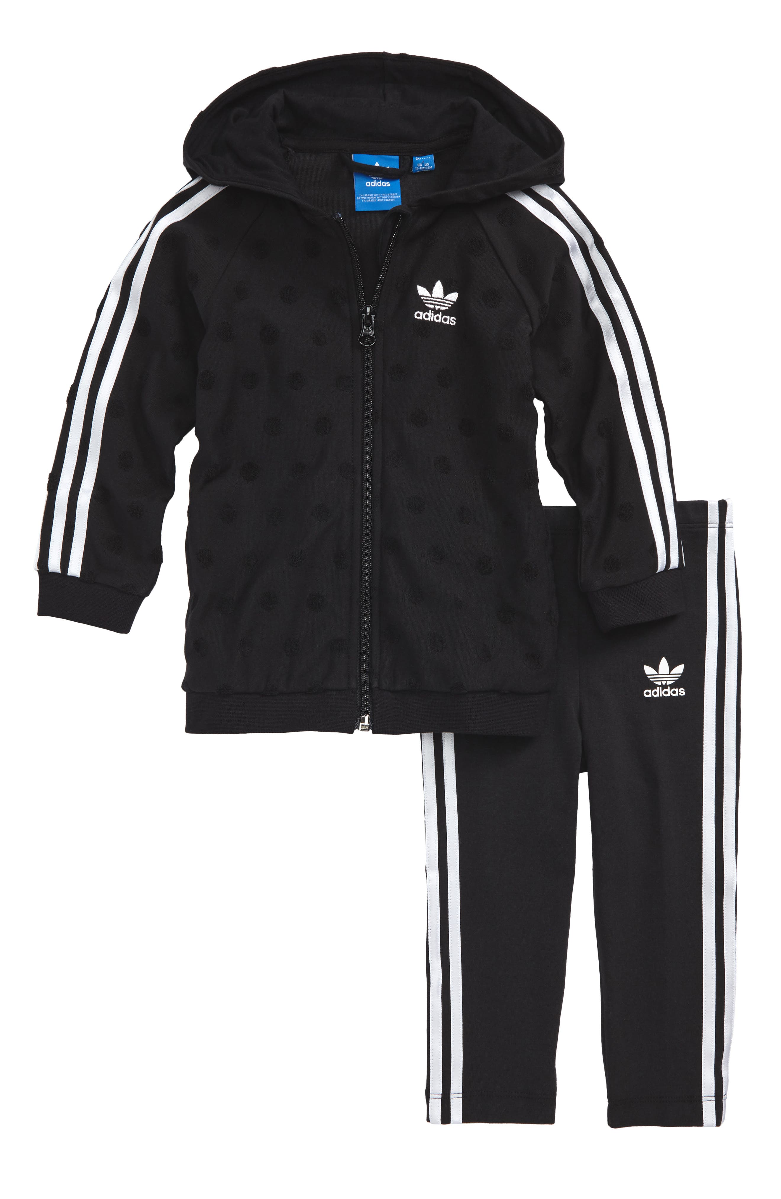 adidas Originals Trefoil Zip Hoodie & Leggings Set (Baby Girls)
