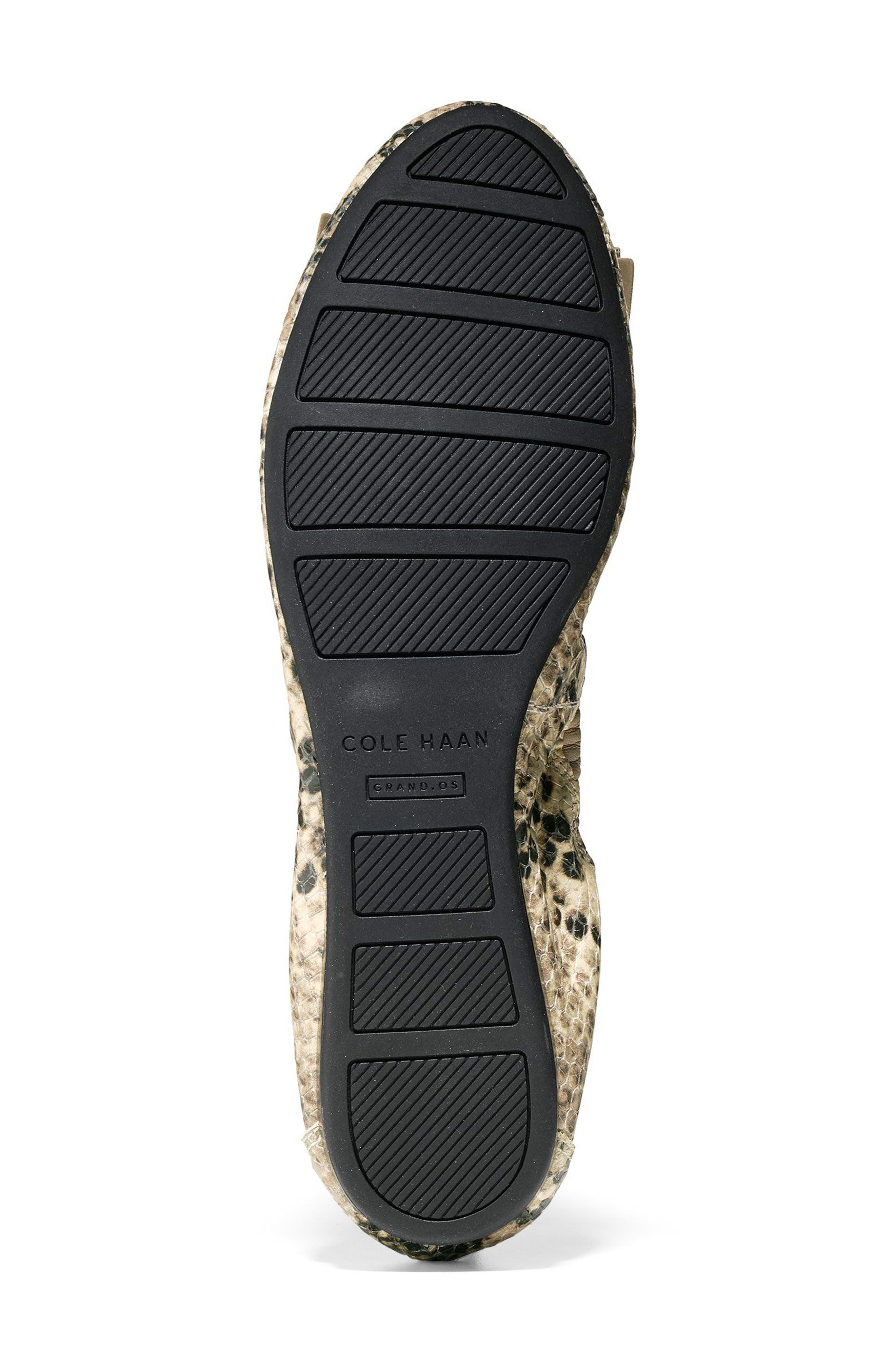 'Tali' Bow Ballet Flat,                             Alternate thumbnail 5, color,                             Roccia Snake Print Leather