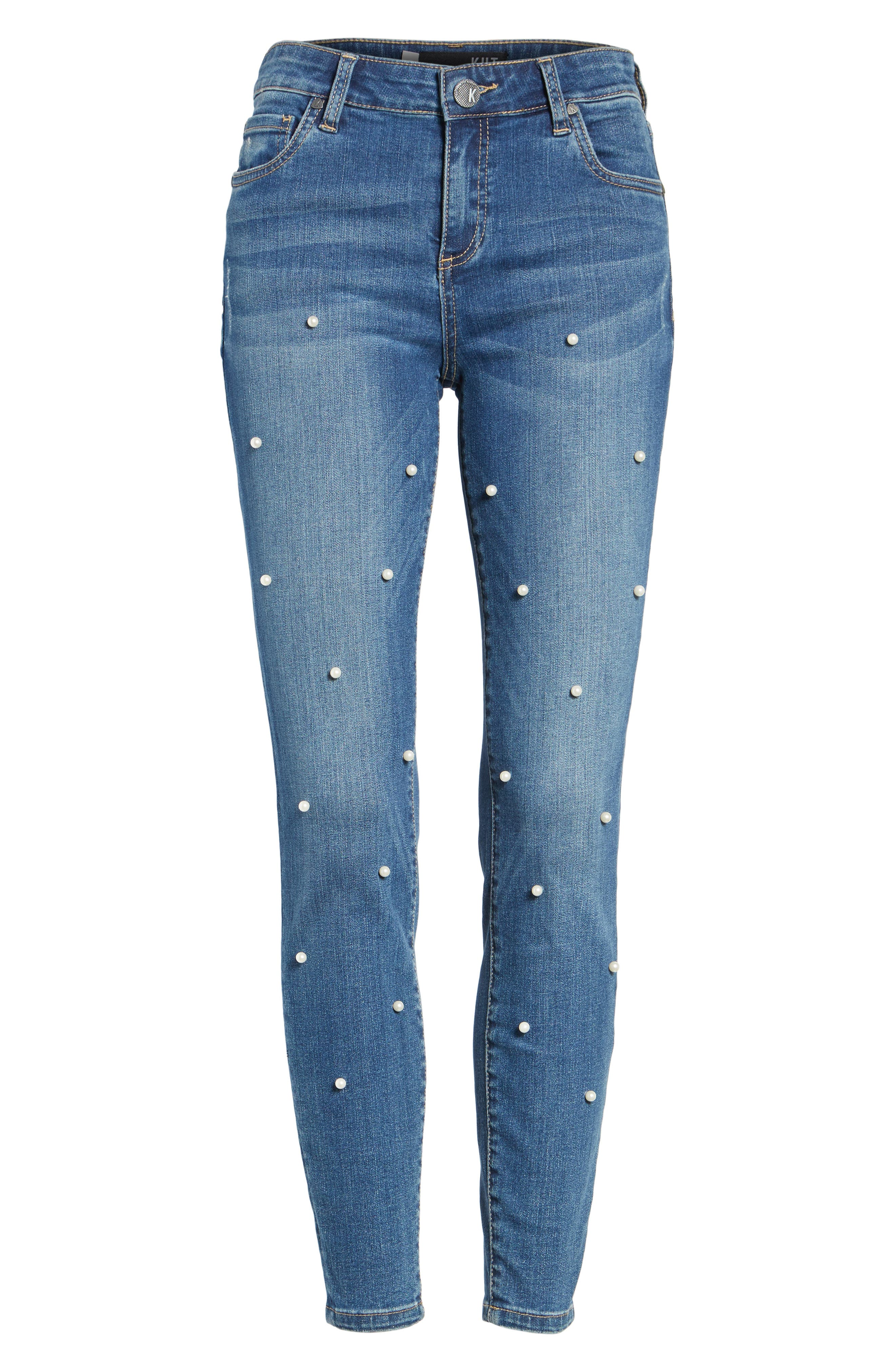 Brigitte Ankle Skinny Jeans,                             Alternate thumbnail 7, color,                             Bewitching/ Dark Stone