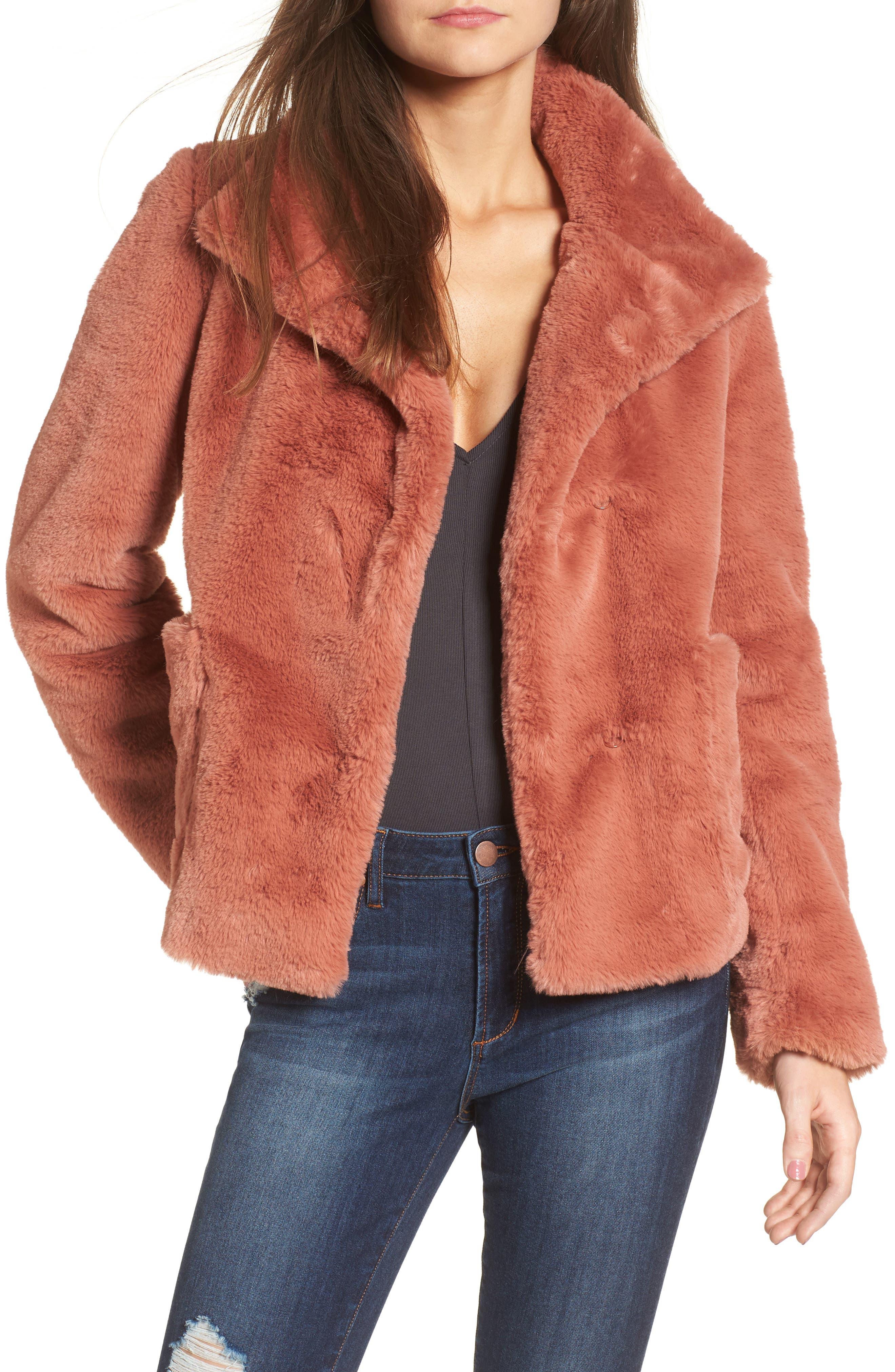Leith Fur-Fect Faux Fur Jacket