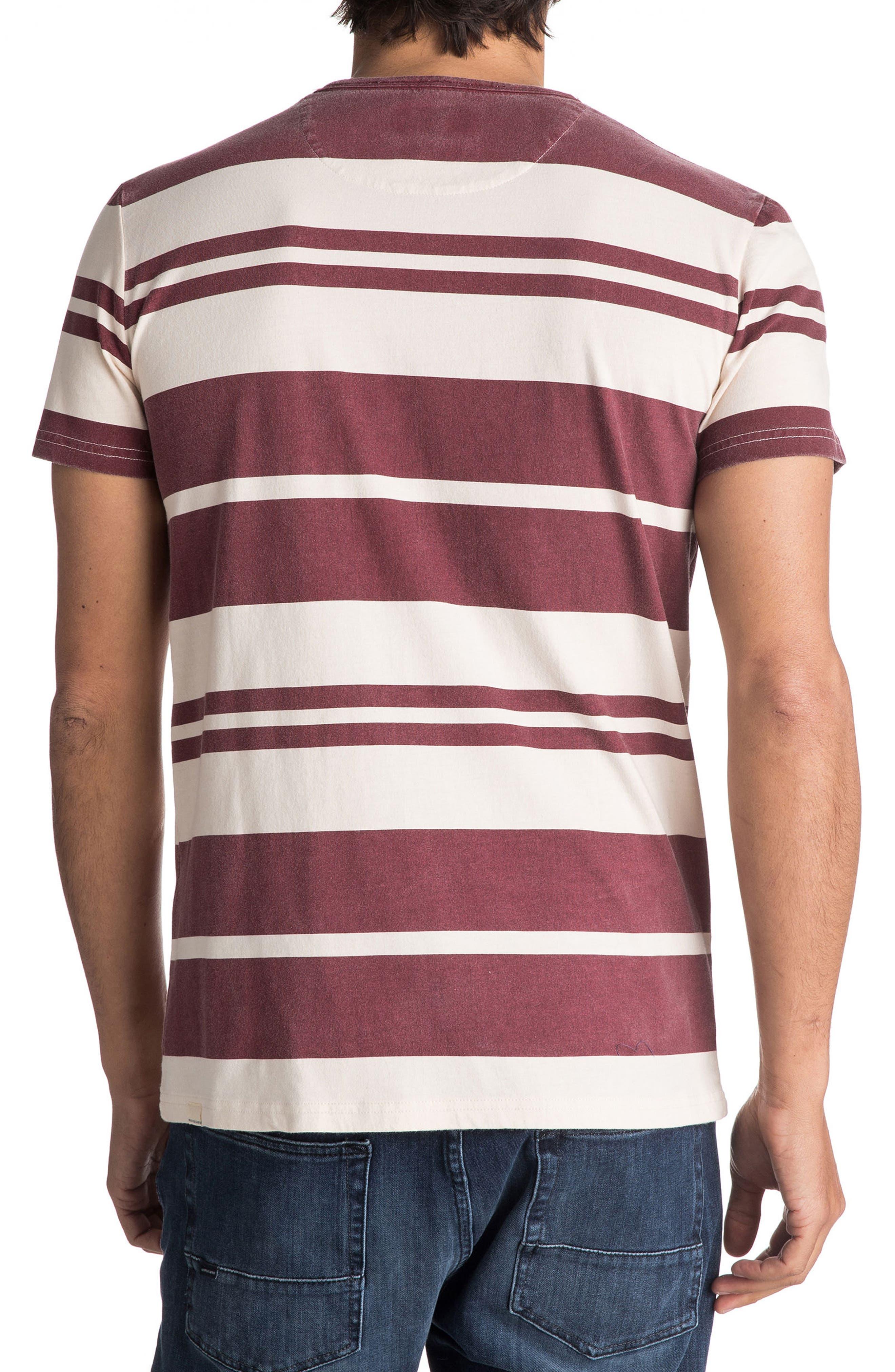 Lokea Stripe Pocket T-Shirt,                             Alternate thumbnail 2, color,                             Pomegranate Lokea