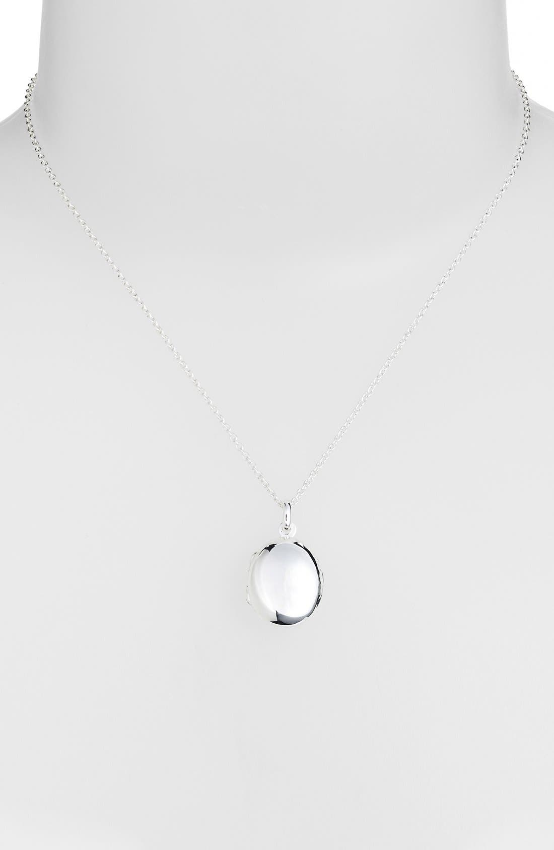 Alternate Image 3  - Argento Vivo Oval Locket Necklace