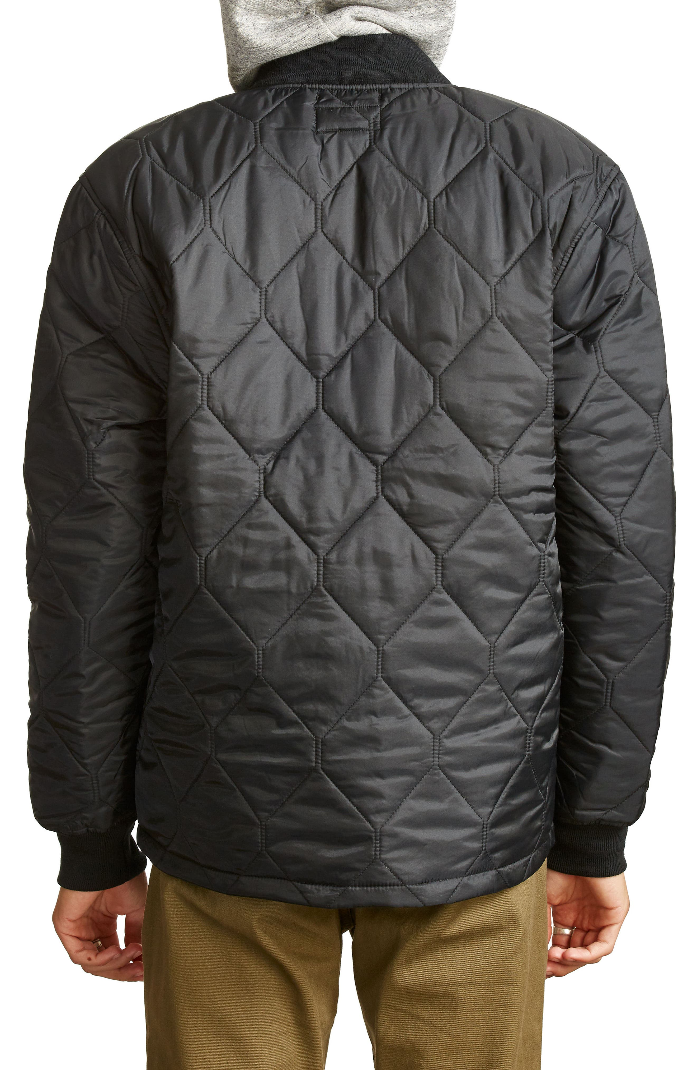 Crawford Quilted Jacket,                             Alternate thumbnail 2, color,                             Black