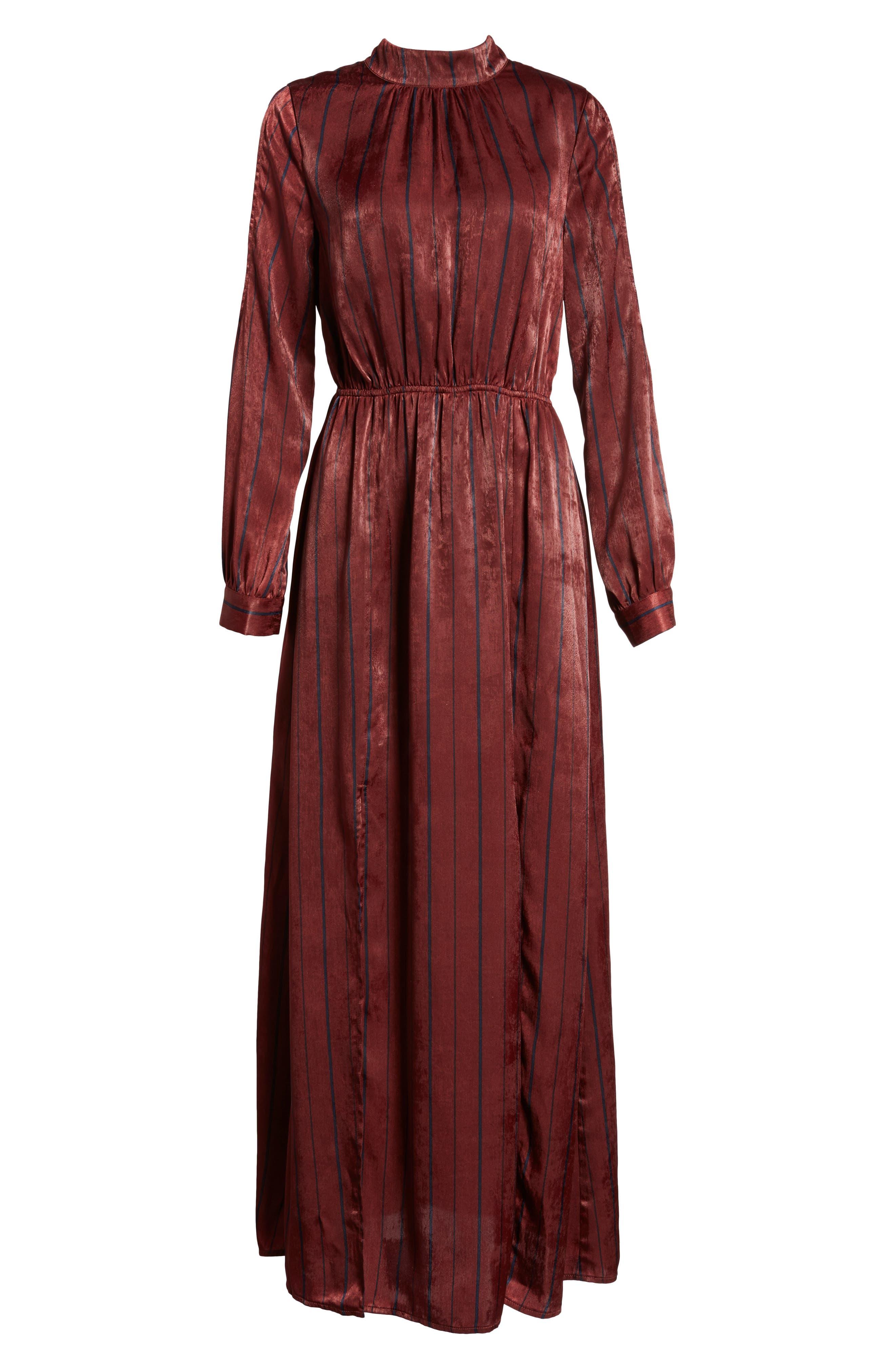 Cold Shoulder Maxi Dress,                             Alternate thumbnail 6, color,                             Wine Multi