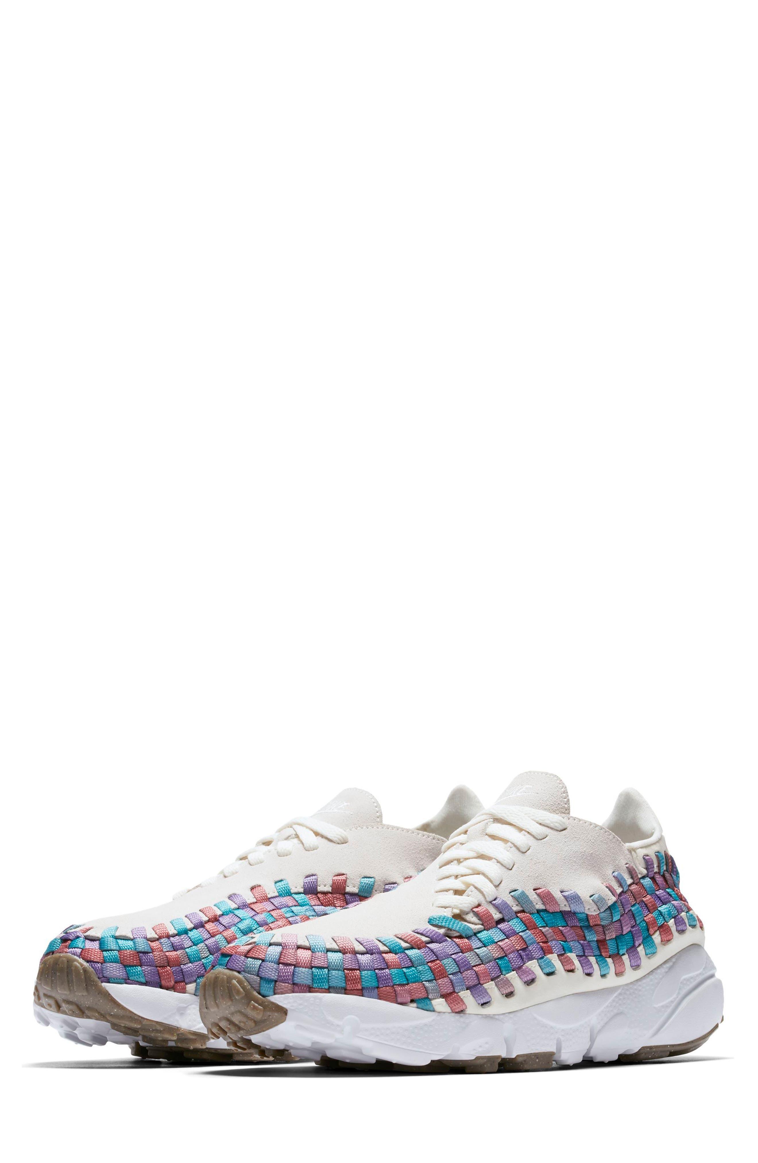 Air Footscape Woven Sneaker,                             Main thumbnail 1, color,                             Sail/ White/ Red/ Teal/ Gum