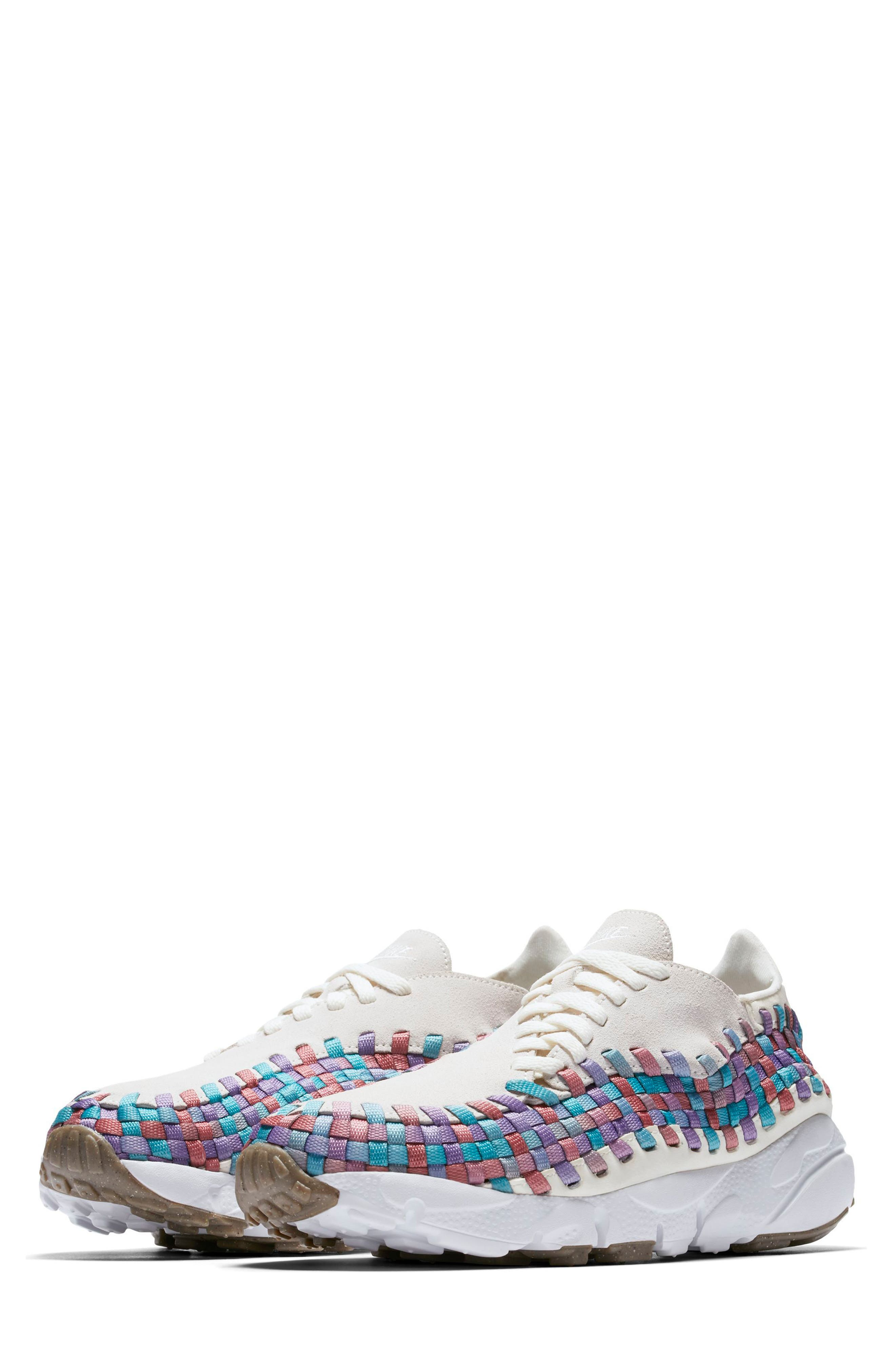 Air Footscape Woven Sneaker,                         Main,                         color, Sail/ White/ Red/ Teal/ Gum