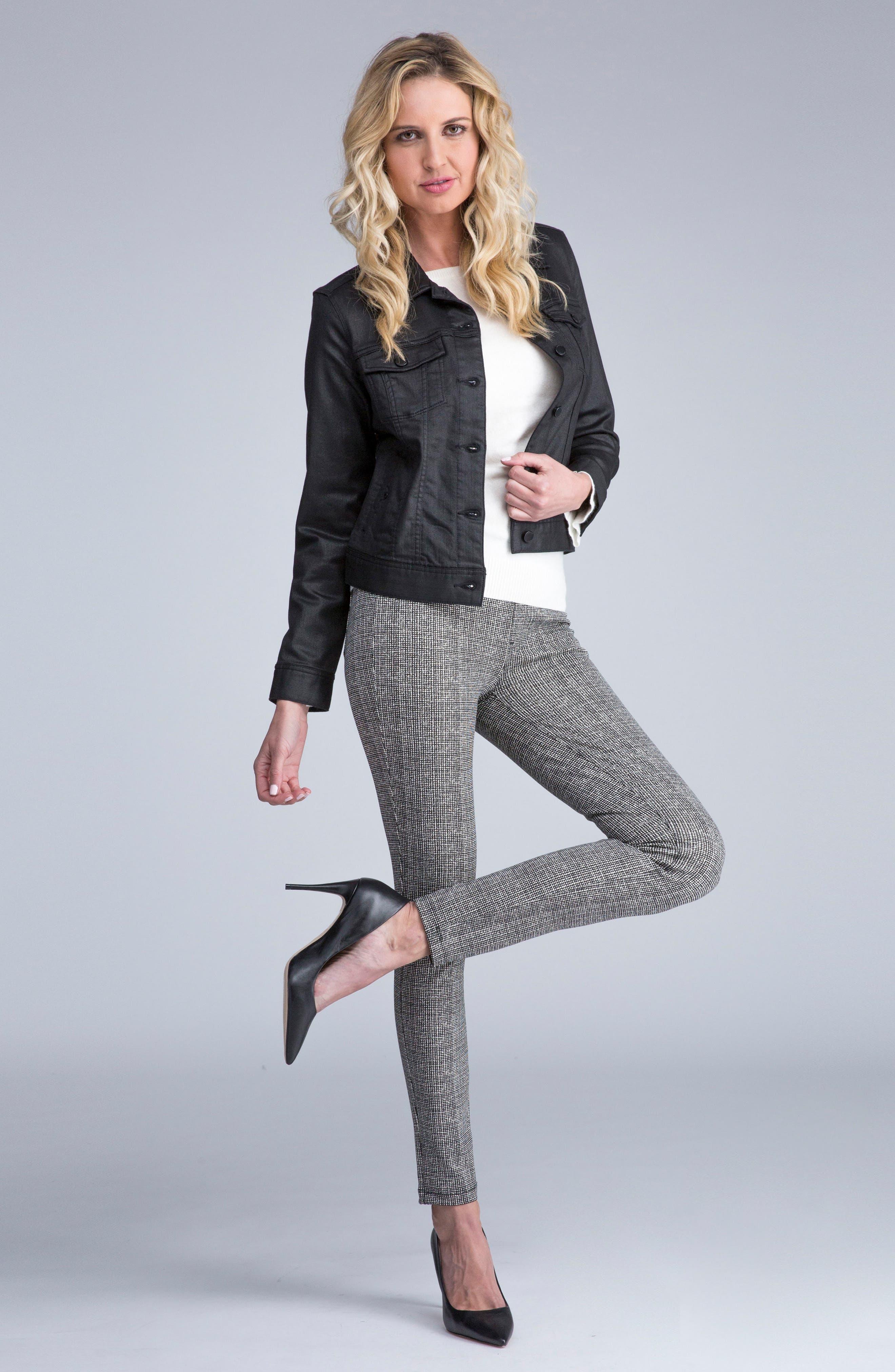 Sienna Pull-On Leggings,                             Alternate thumbnail 5, color,                             White Whisper Tweed