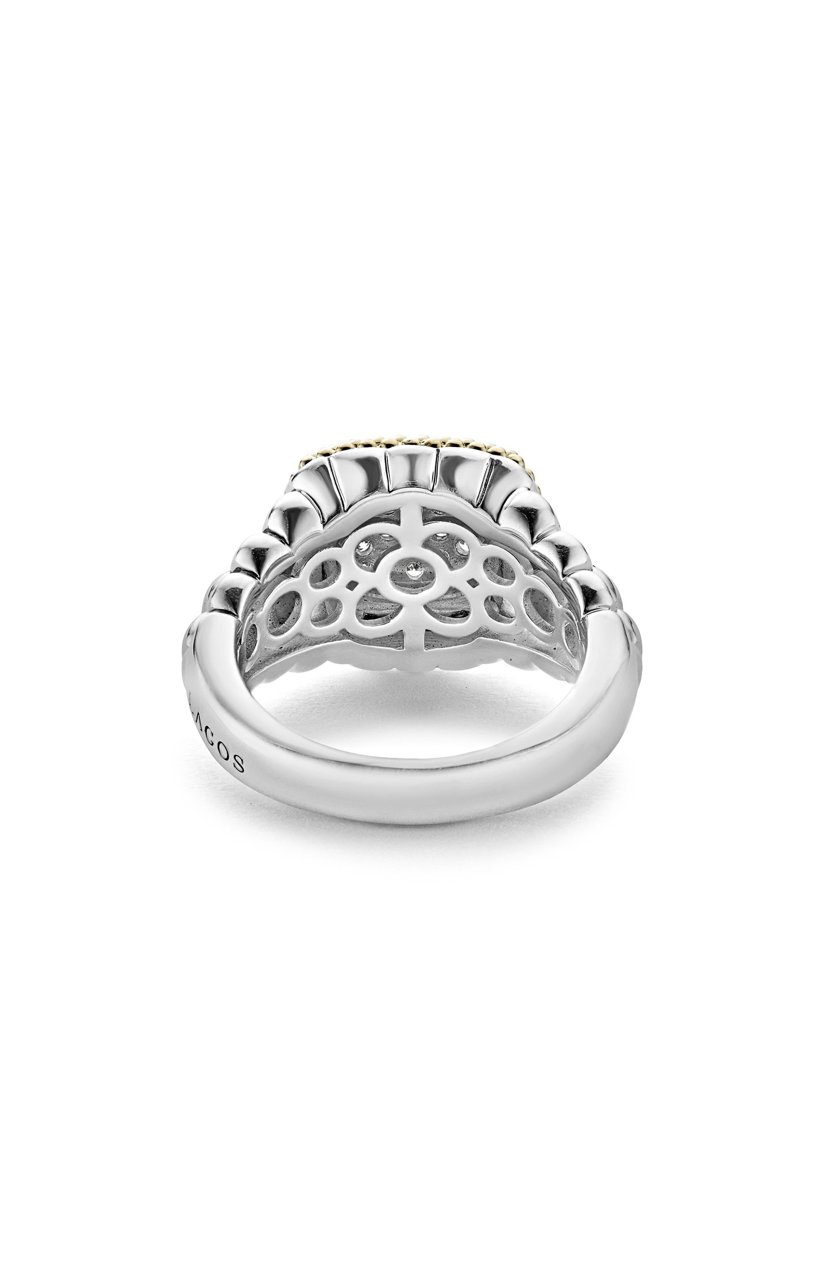 Diamond Lux Square Ring,                             Alternate thumbnail 3, color,                             Diamond