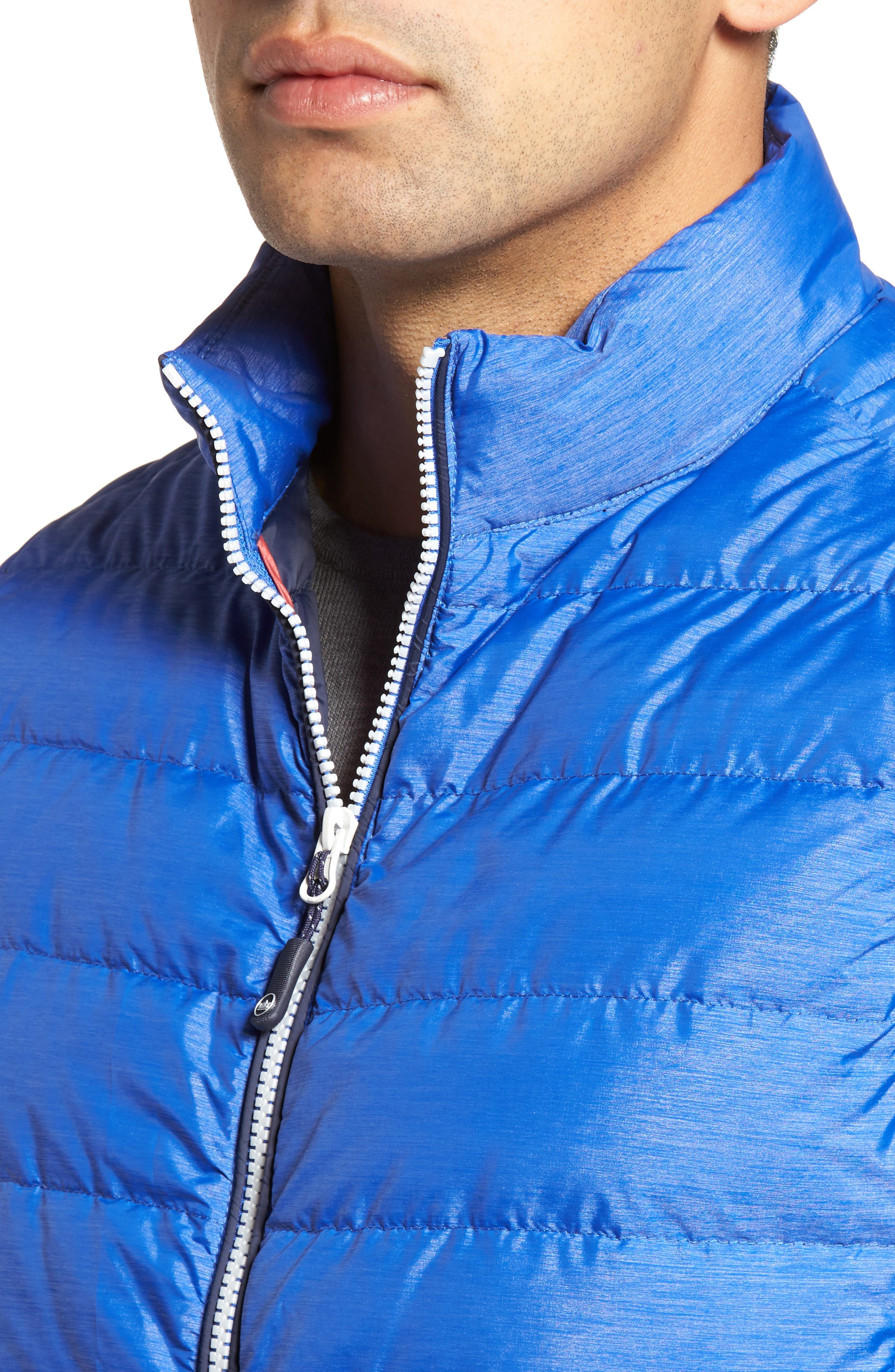 Crown Elite Light Down Vest,                             Alternate thumbnail 4, color,                             Barrier Blue