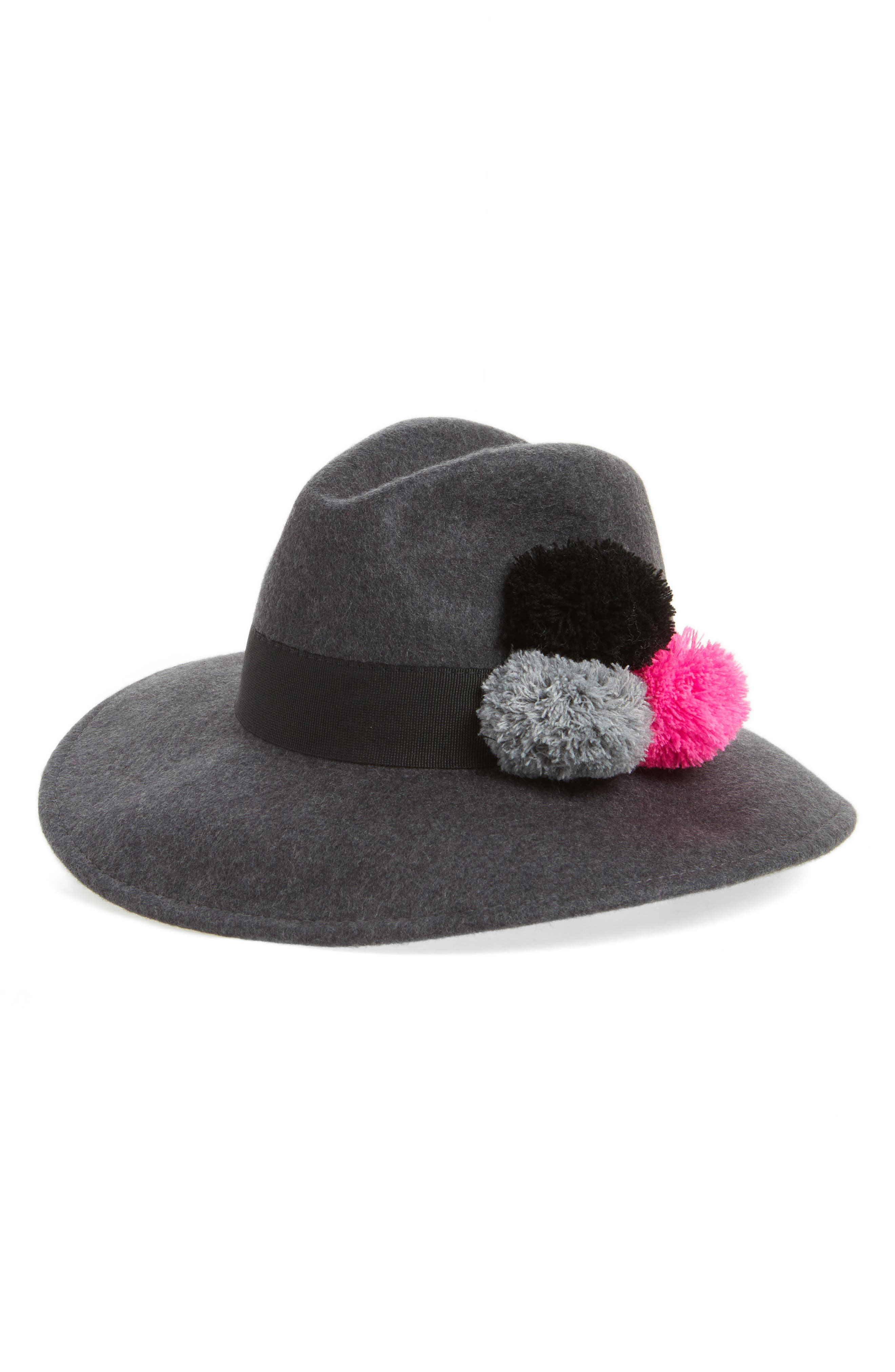 Alternate Image 1 Selected - Helene Berman Pompom Fedora