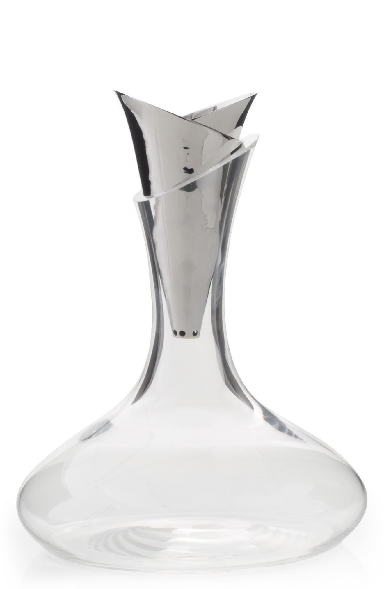 Ripple Effect Decanter,                             Main thumbnail 1, color,                             Ripple Effect