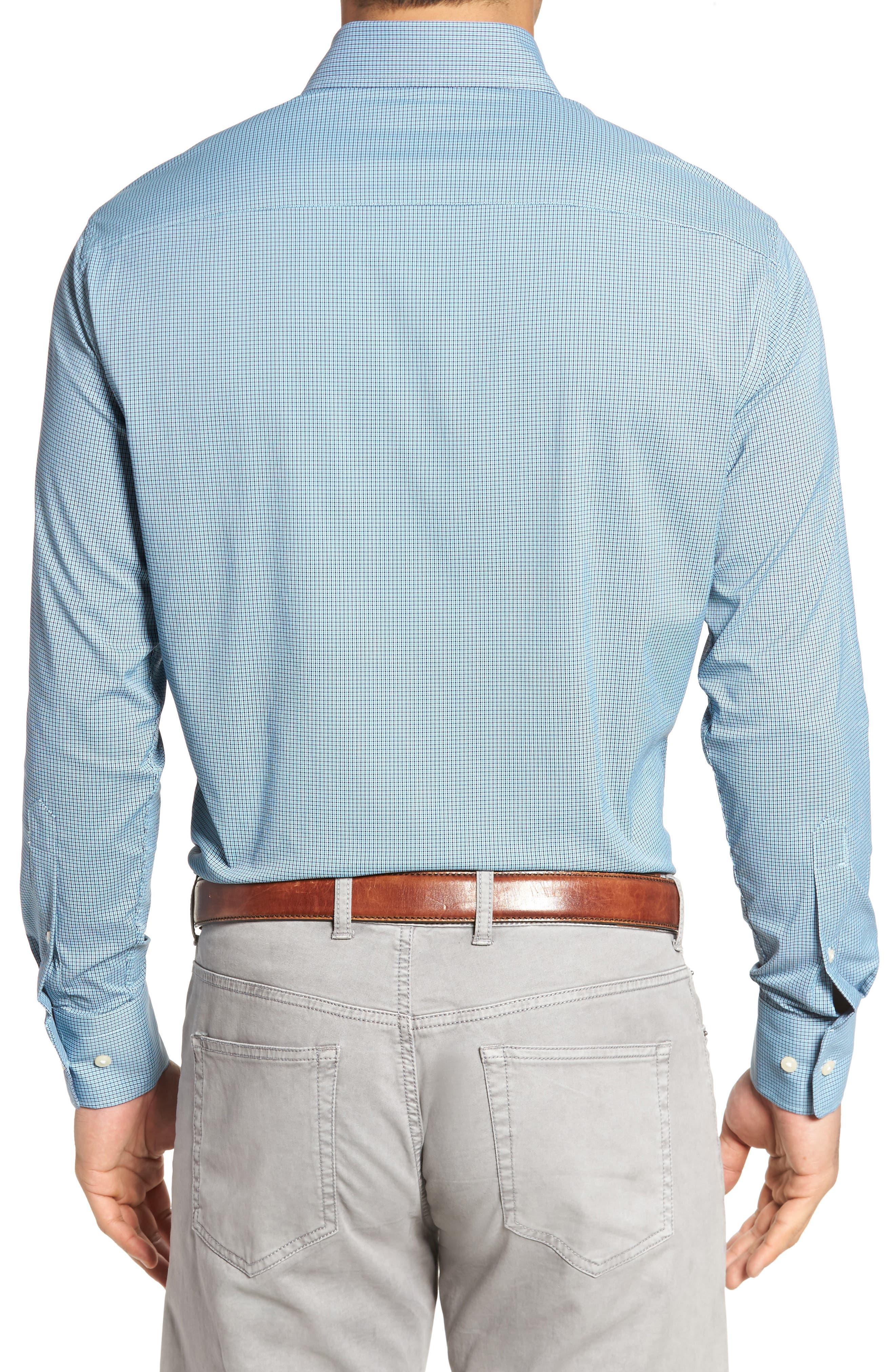Parsons Regular Fit Performance Sport Shirt,                             Alternate thumbnail 2, color,                             Grotto Blue