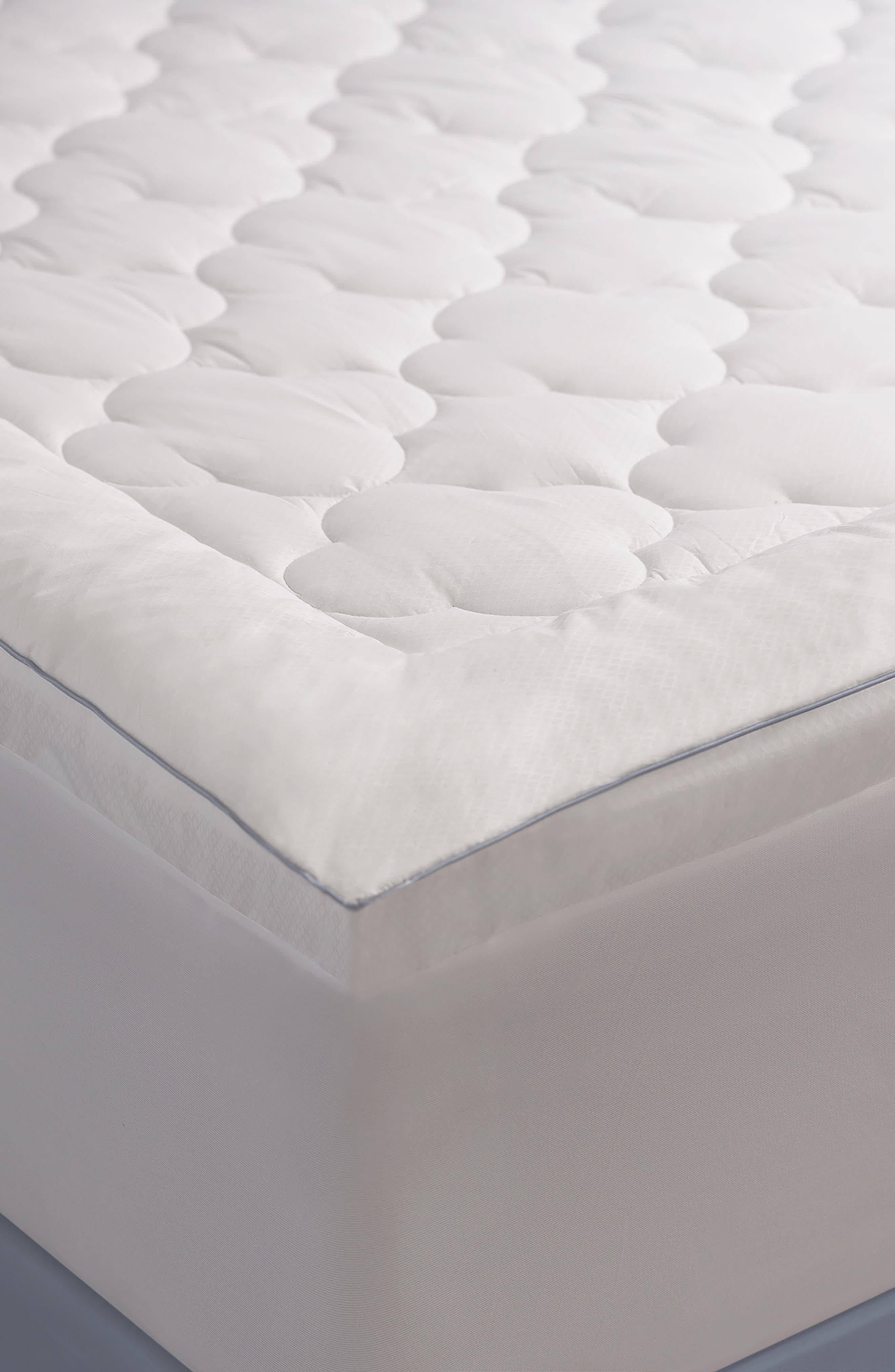 Mattress Pad,                         Main,                         color, White