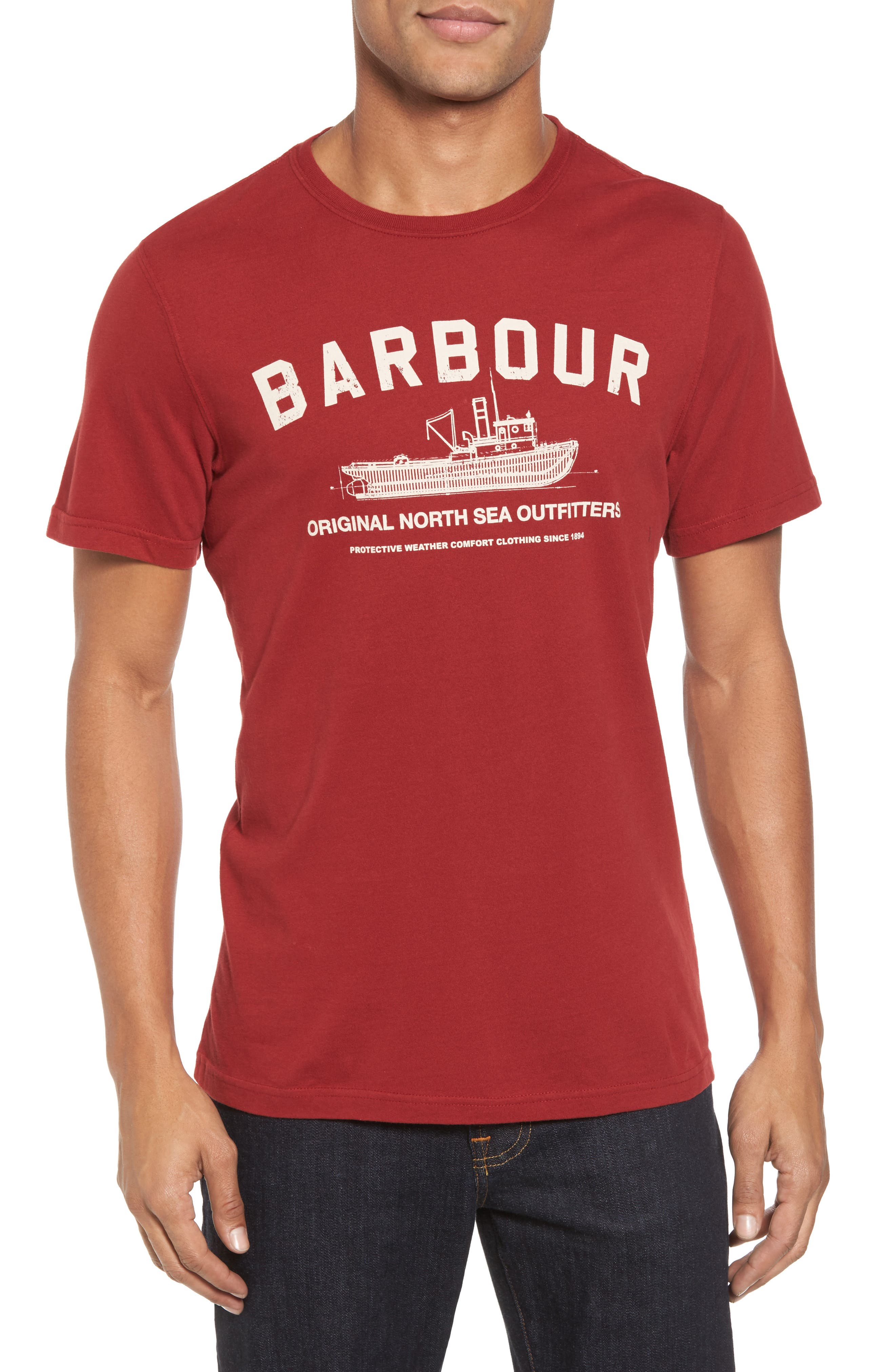 Barta T-Shirt,                         Main,                         color, Lobster Red
