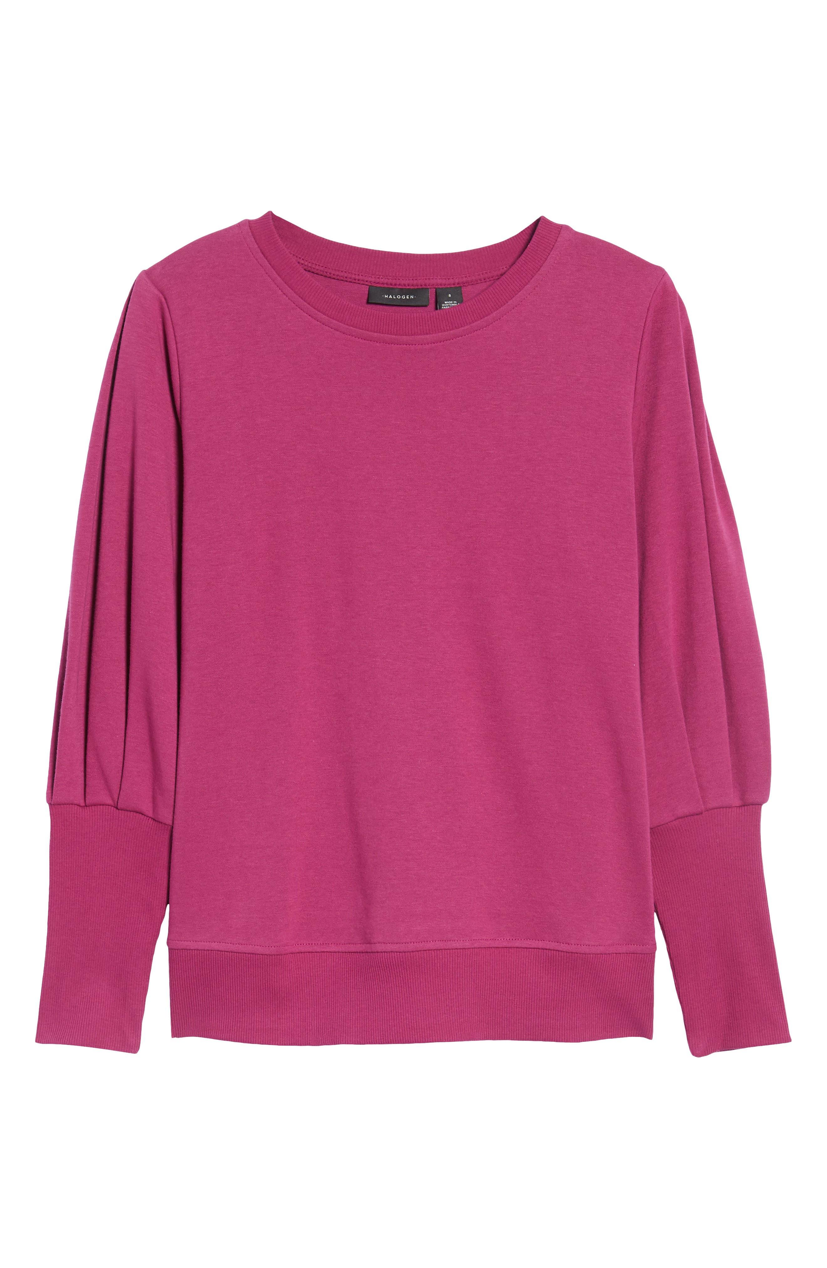 Alternate Image 6  - Halogen® Blouson Sleeve Sweatshirt