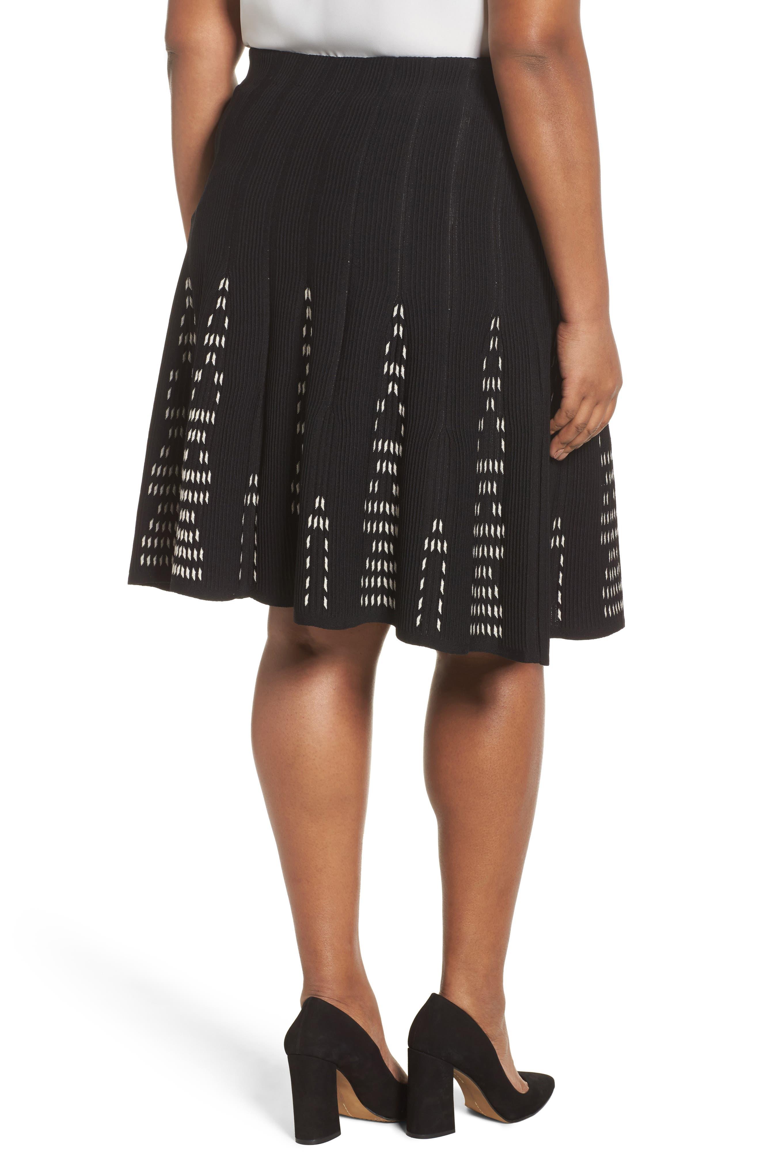 Alternate Image 2  - NIC+ZOE Hypnotic Twirl Skirt (Plus Size)