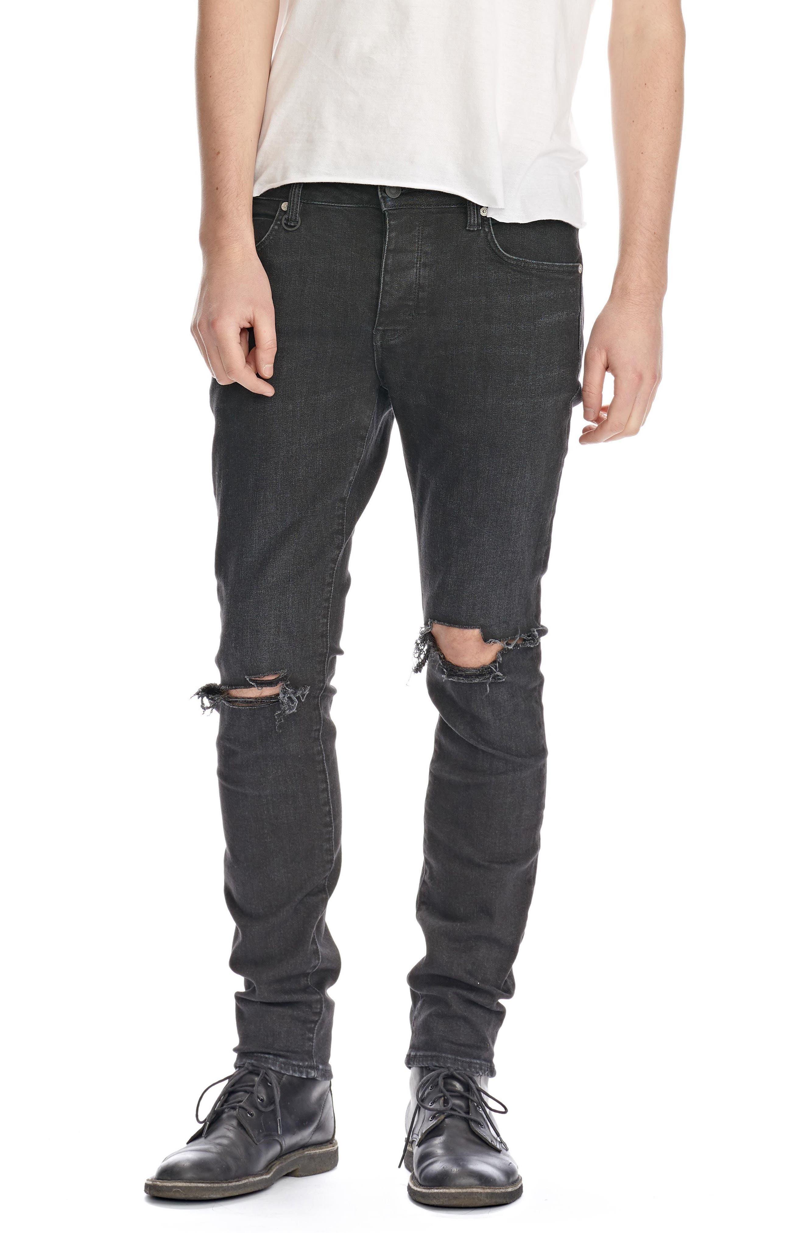 Iggy Skinny Fit Jeans,                         Main,                         color, Black Horizon
