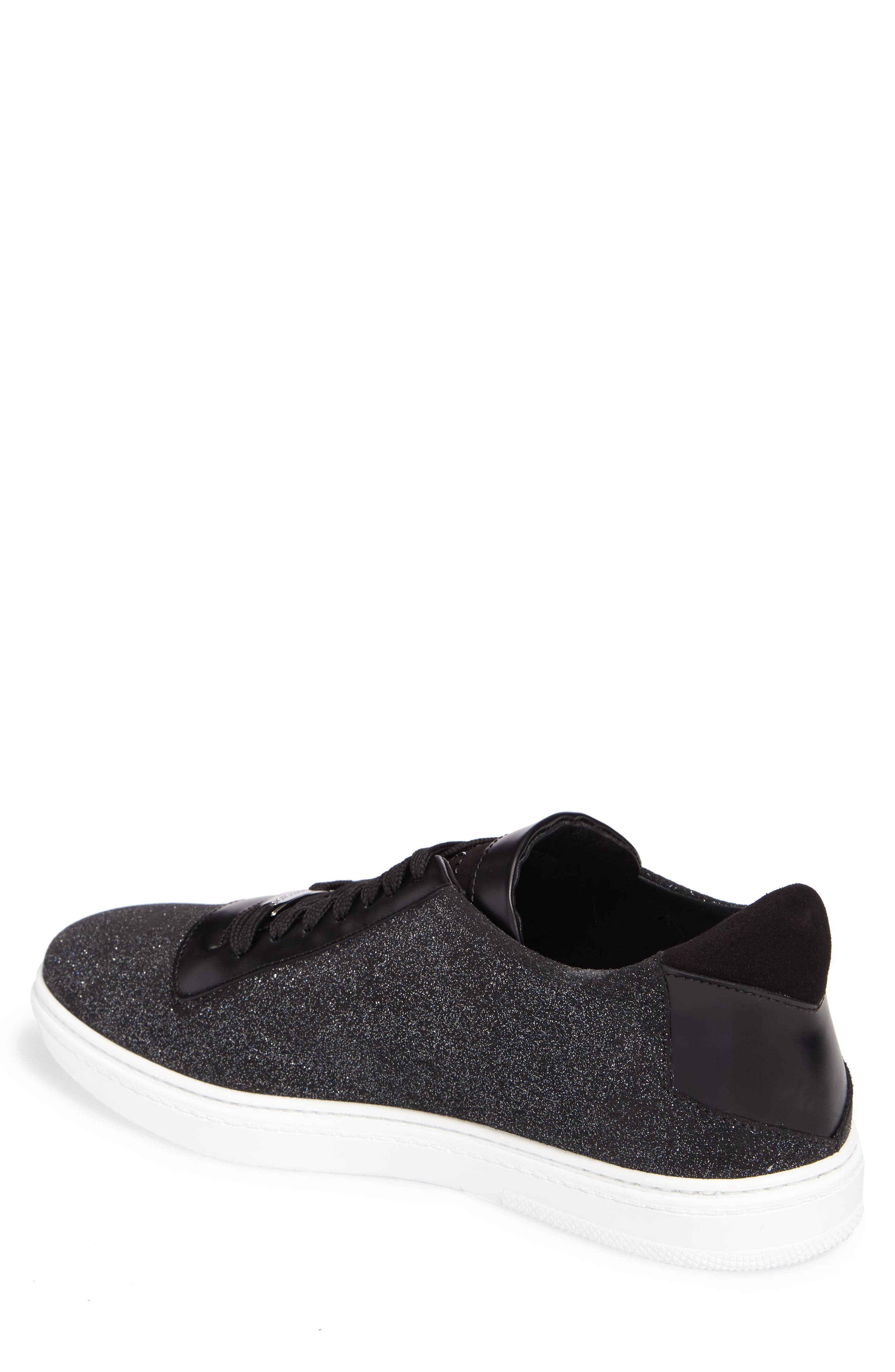 Benn Glitter Low Top Sneaker,                             Alternate thumbnail 2, color,                             Smoky Blue