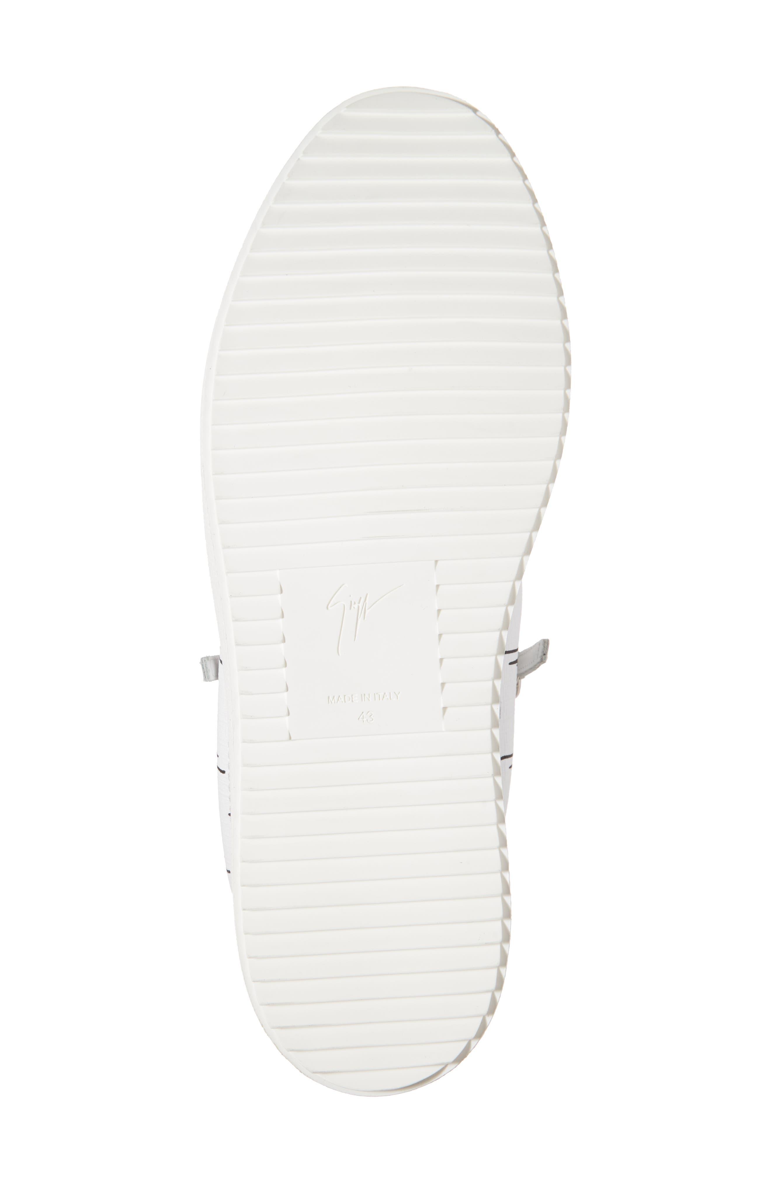Low-Top Sneaker,                             Alternate thumbnail 6, color,                             White/Black Gz Logo