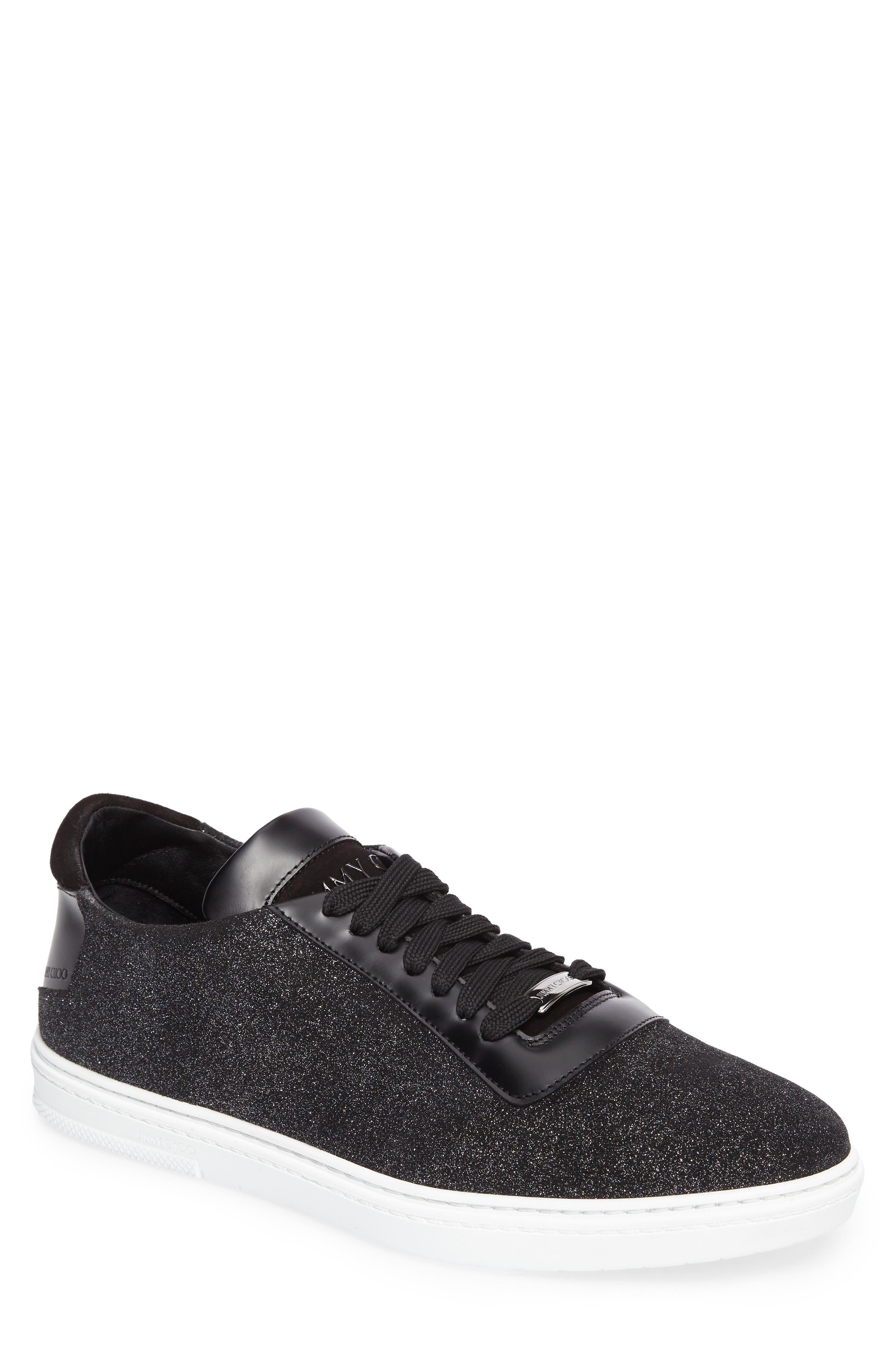 Benn Glitter Low Top Sneaker,                         Main,                         color, Smoky Blue