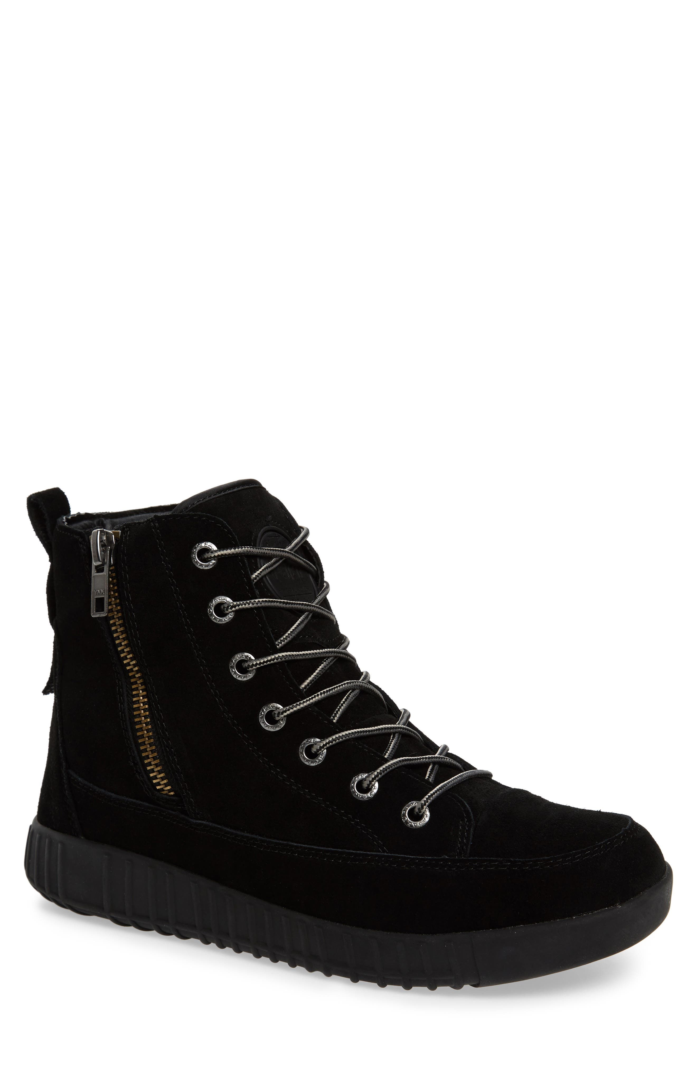 Parnell Waterproof Winter Sneaker,                         Main,                         color, Black Leather