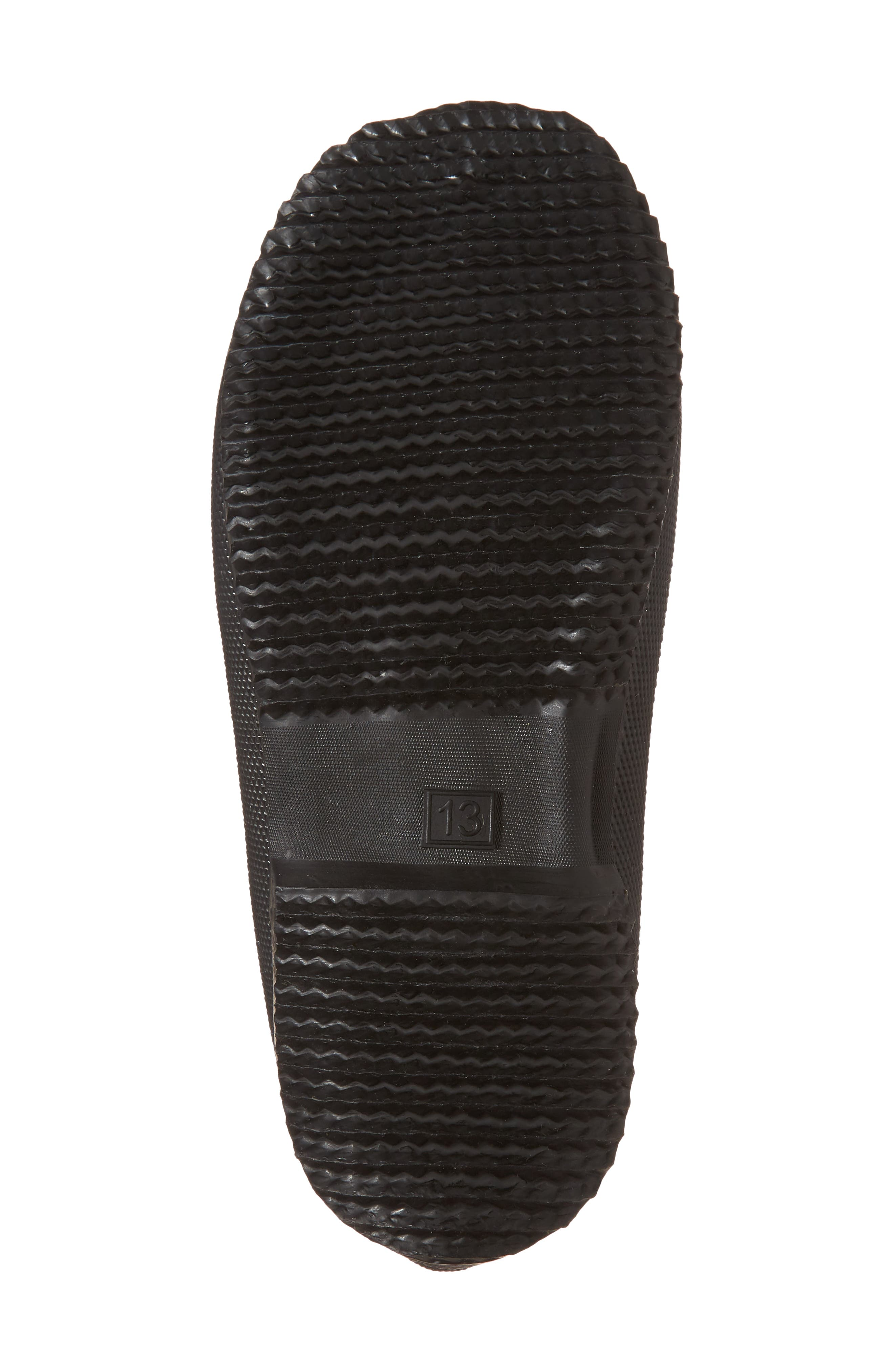 Winter Waterproof Rain Boot,                             Alternate thumbnail 6, color,                             Black Stripe