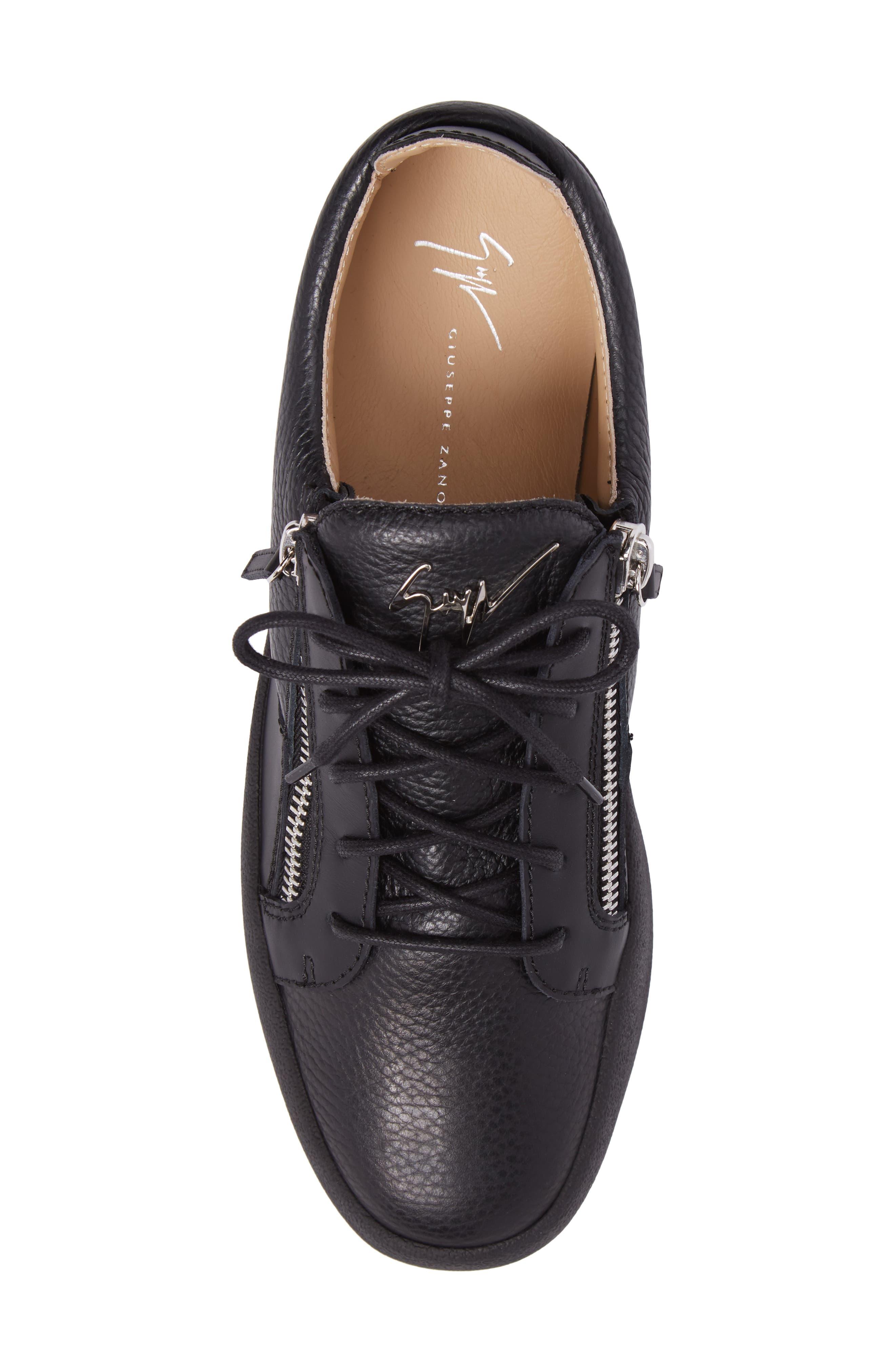 Low-Top Sneaker,                             Alternate thumbnail 5, color,                             Black