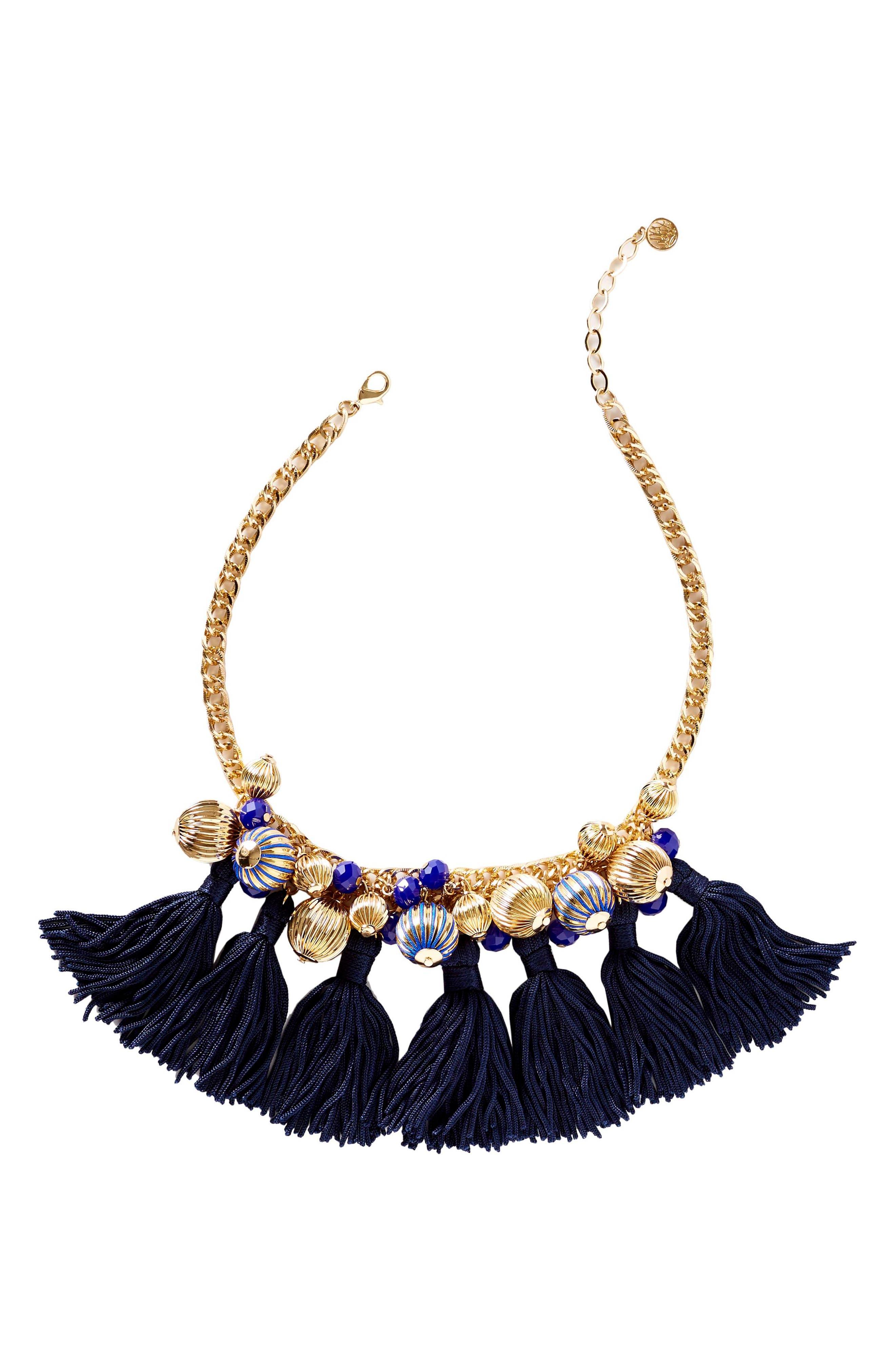 Main Image - Lilly Pulitzer® Fringe Collar Necklace