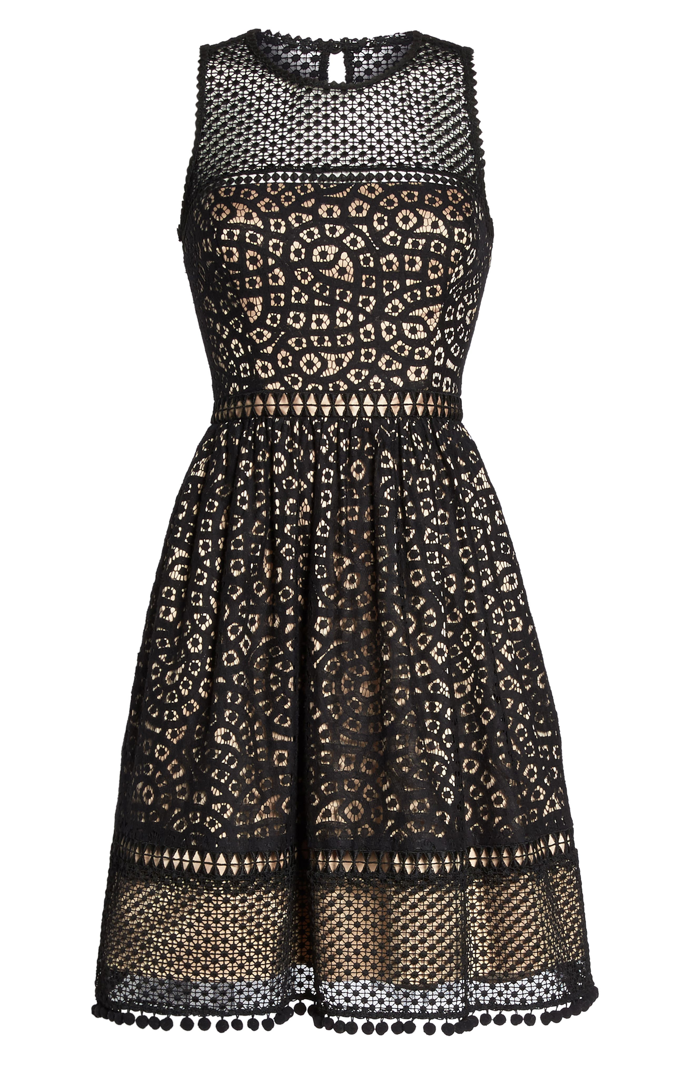 Alternate Image 6  - Eliza J Lace Fit & Flare Dress