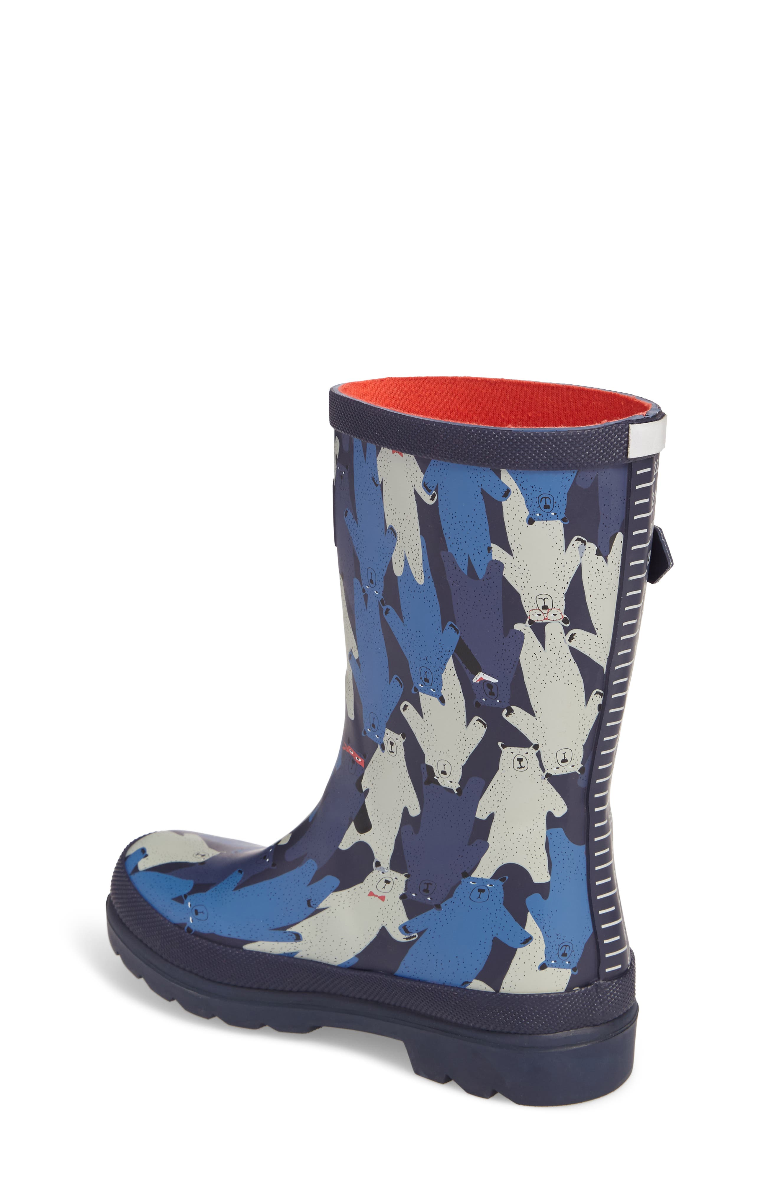 Alternate Image 2  - Joules Printed Waterproof Rain Boot (Toddler, Little Kid & Big Kid)