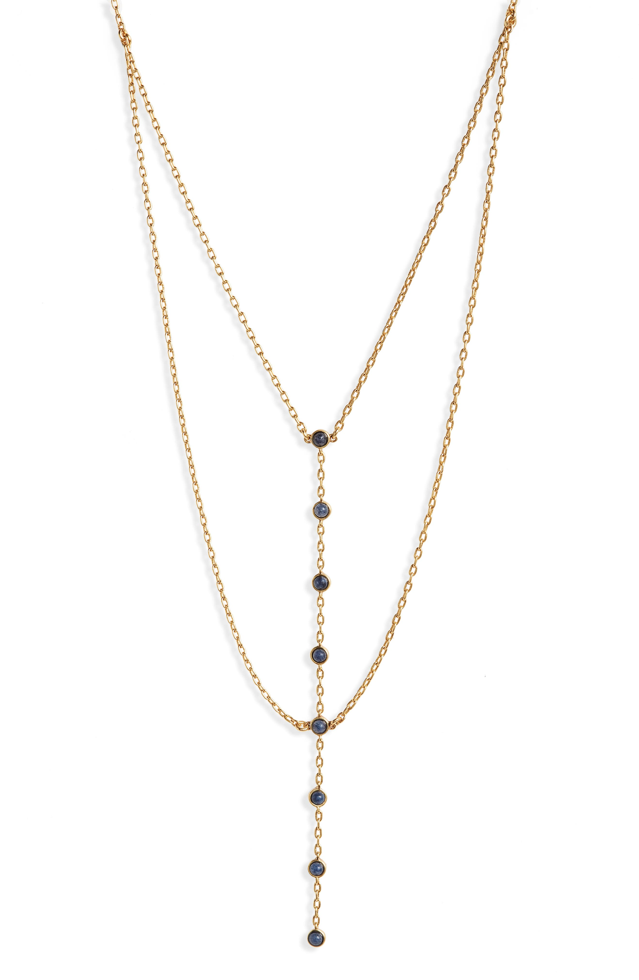 Nuit Layered Lariat Necklace,                         Main,                         color, Gold Ox