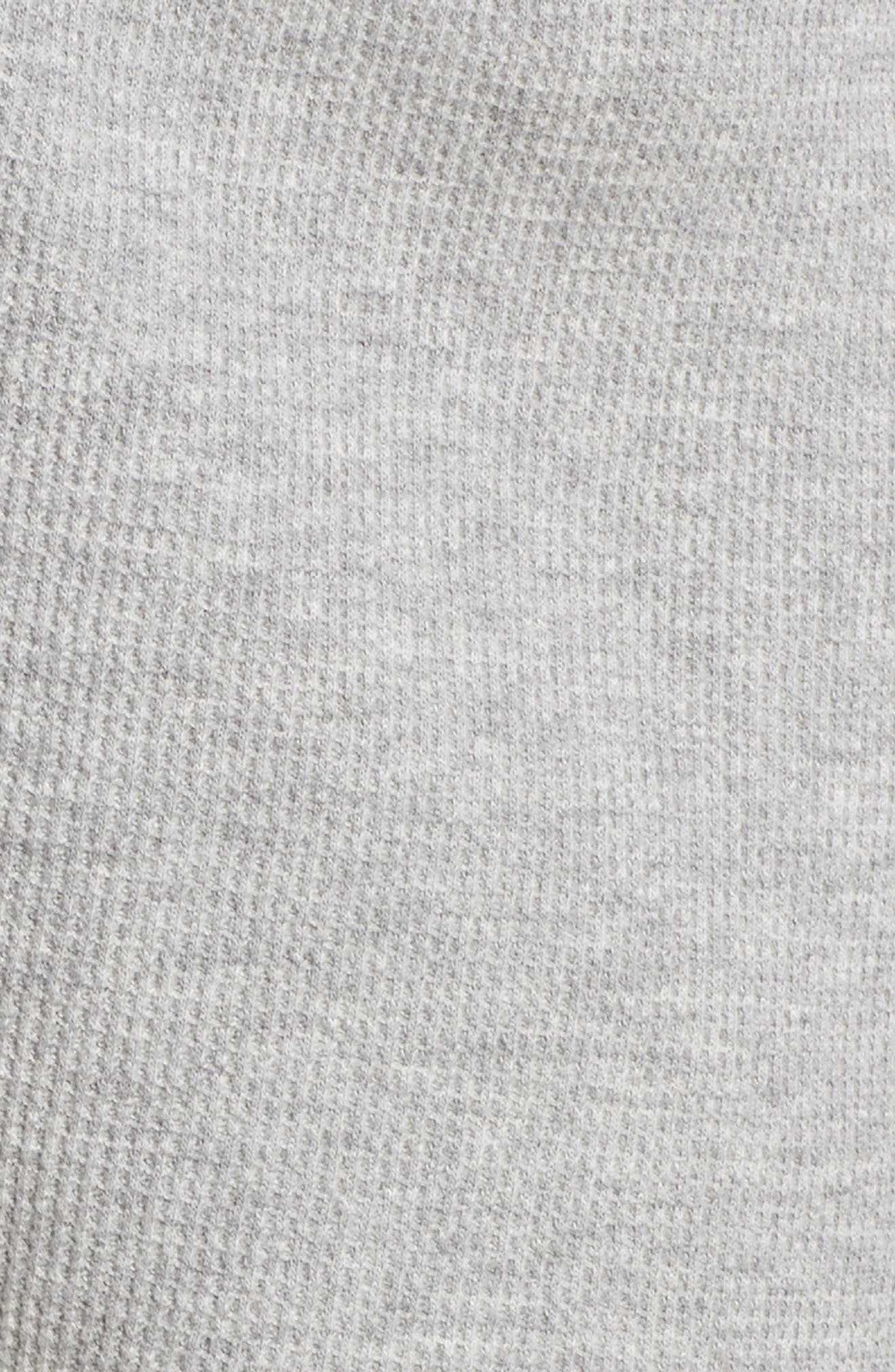 Waffle Knit Lounge Shorts,                             Alternate thumbnail 5, color,                             Heather Grey