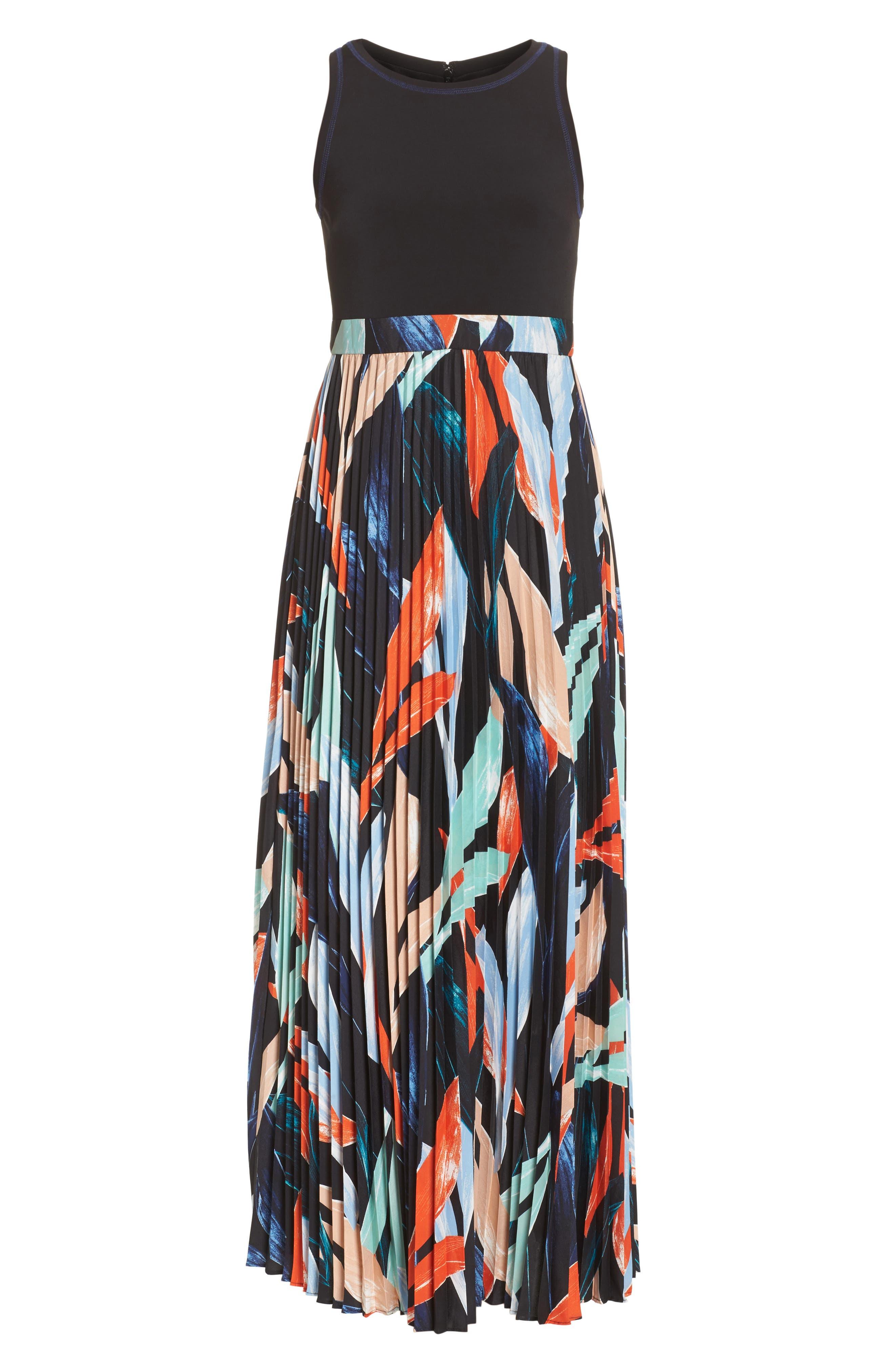 Alternate Image 7  - Vince Camuto Pleated Maxi Dress (Regular & Petite)