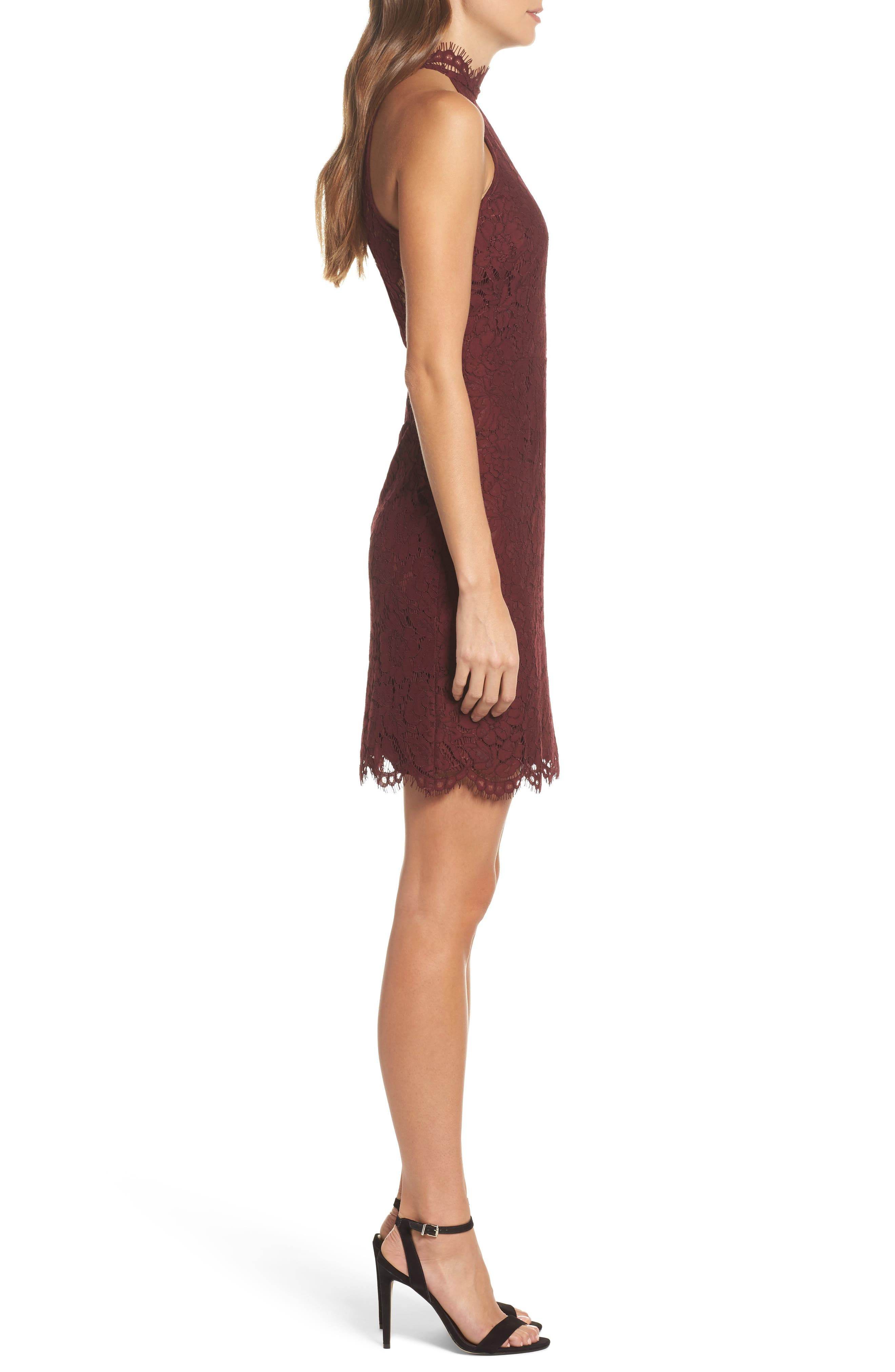 Alternate Image 3  - BB Dakota 'Cara' High Neck Lace Dress
